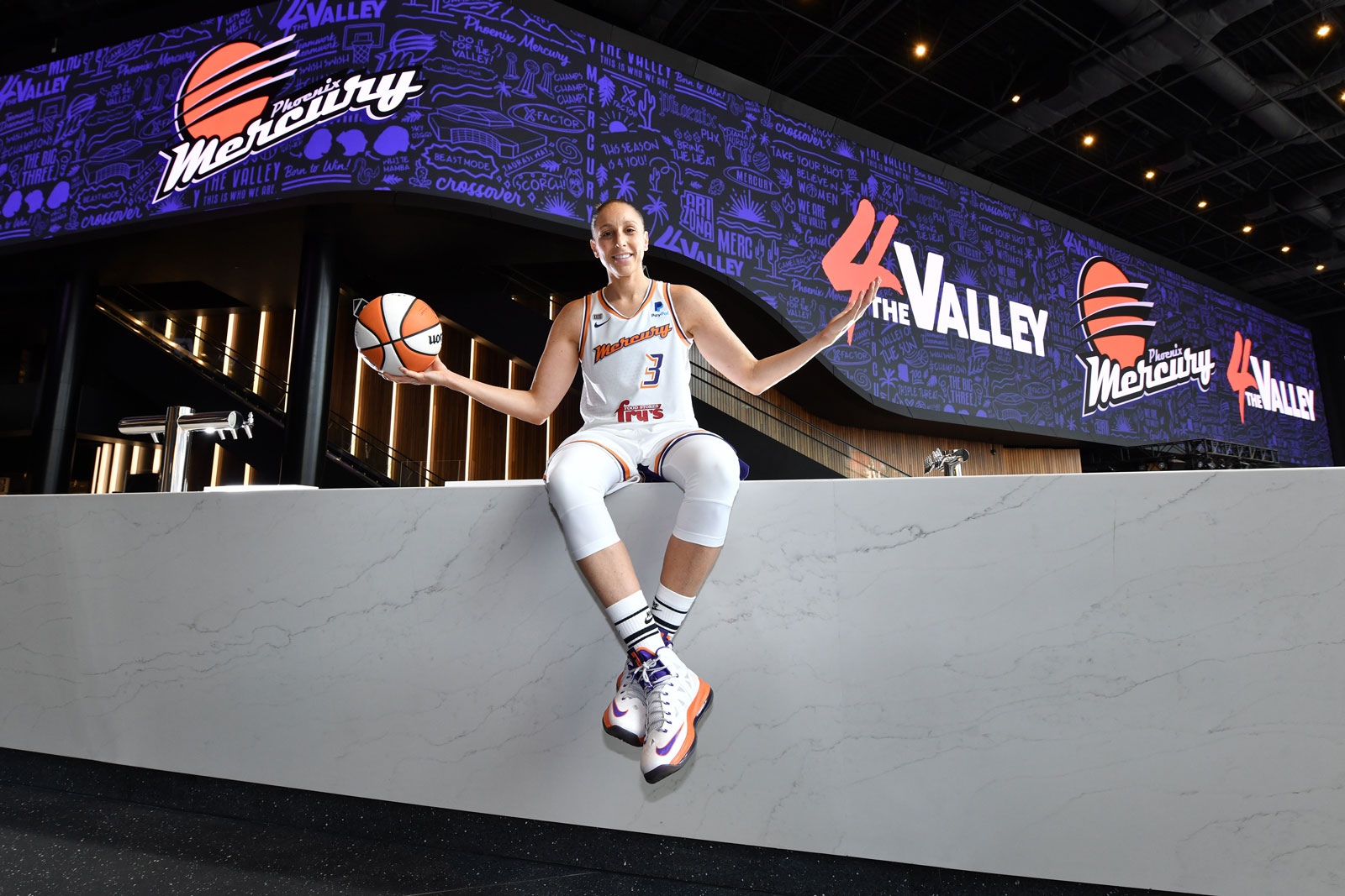 Diana Taurasi #3 of the Phoenix Mercury poses for a portrait