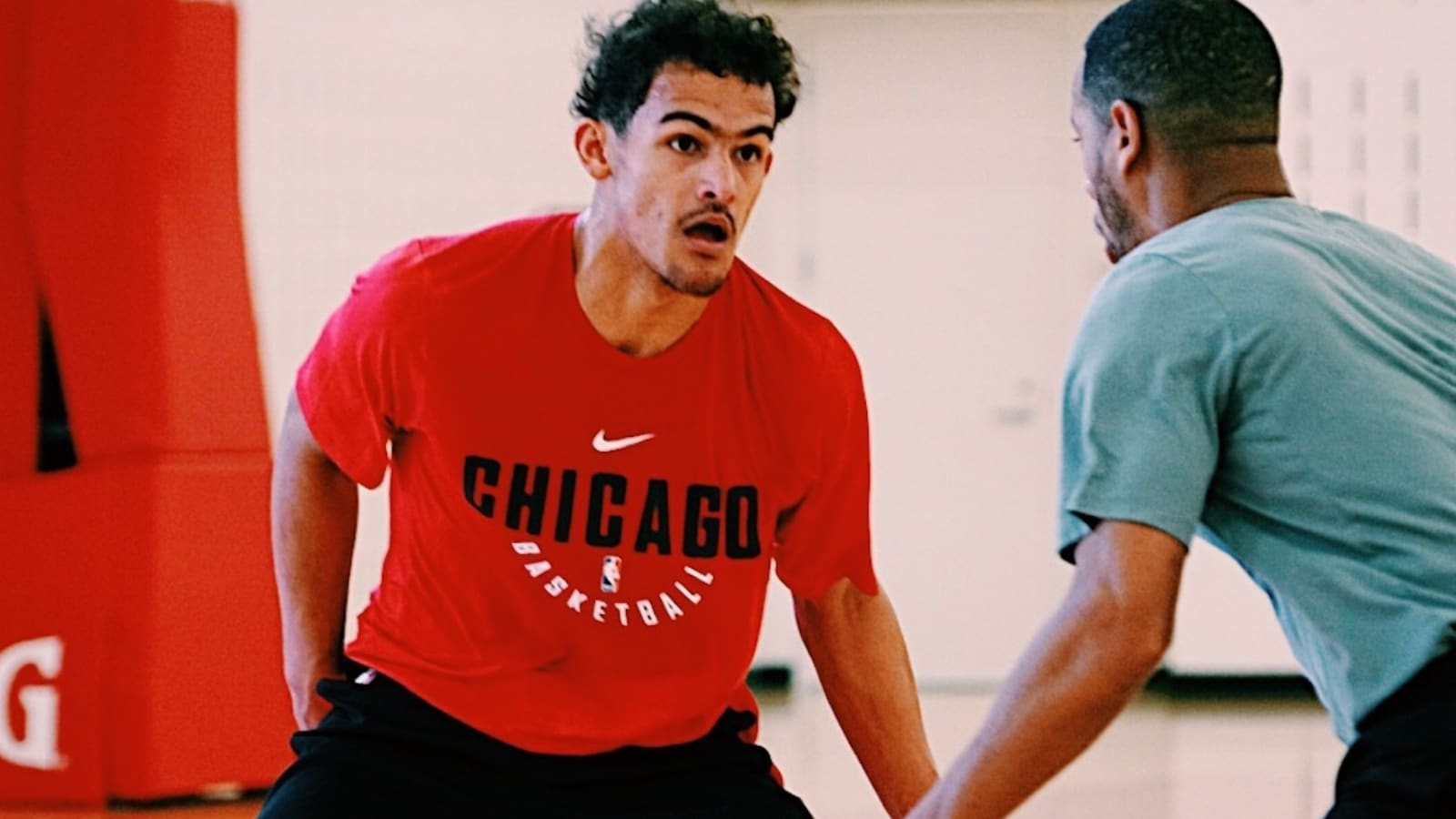 Trae Young works out at the Advocate Center