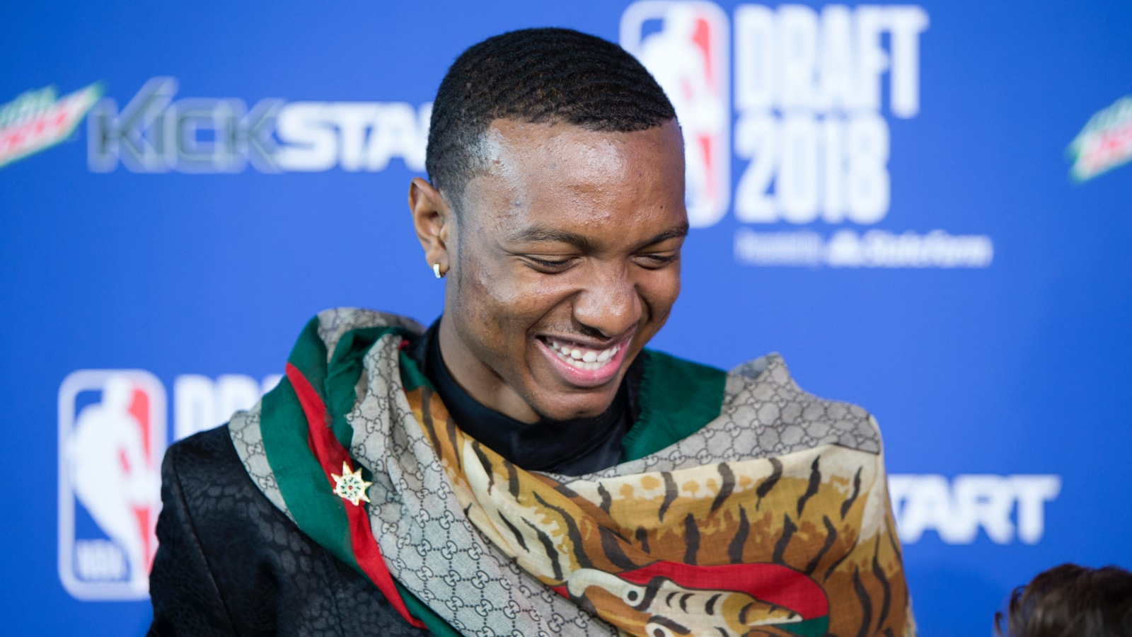 Wendell Carter Jr. is all smiles after being selected by the Chicago Bulls