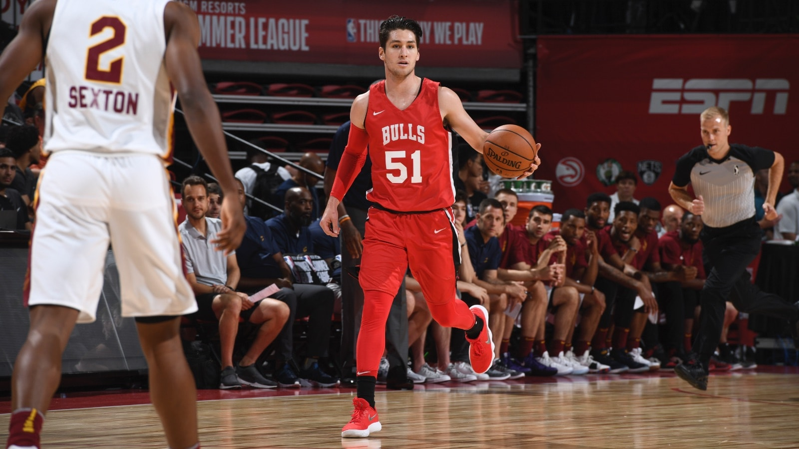 Ryan Arcidiacono brings the ball down the court in NBA Summer League