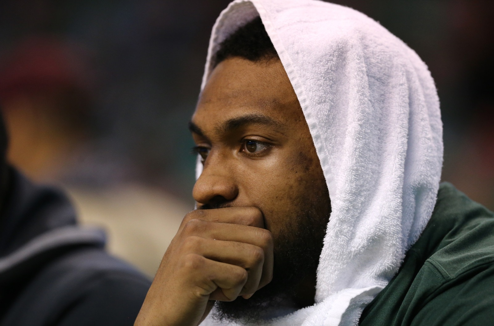 Jabari Parker sits on the bench