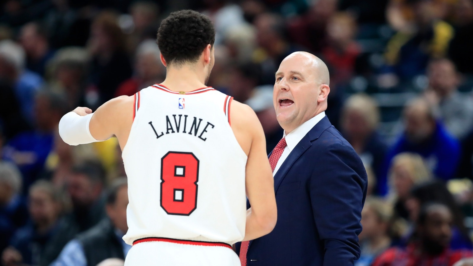 Coach Boylen and Guard Zach LaVine