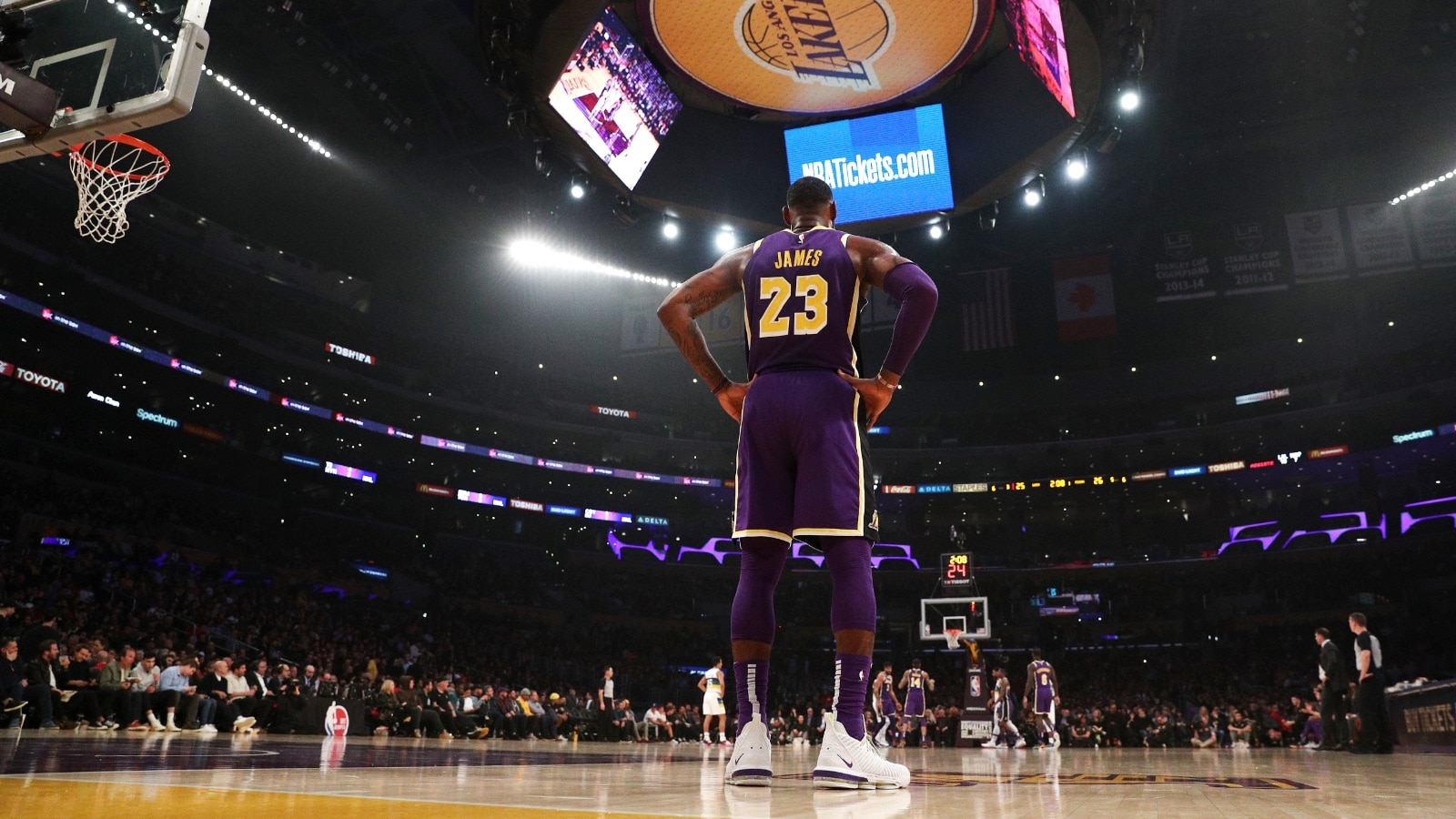 LeBron James at the Staples Center