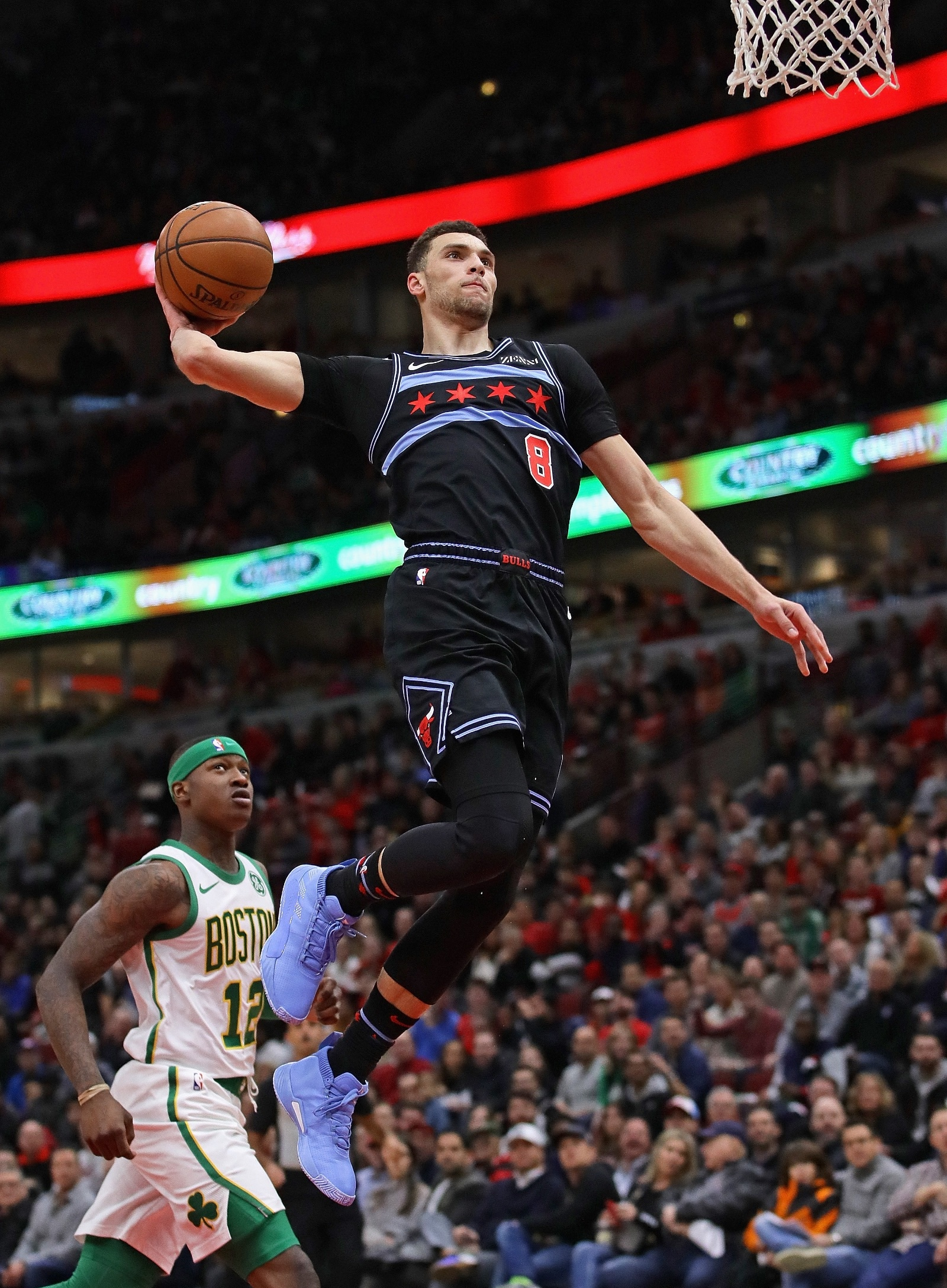 Zach LaVine gets big air for the dunk