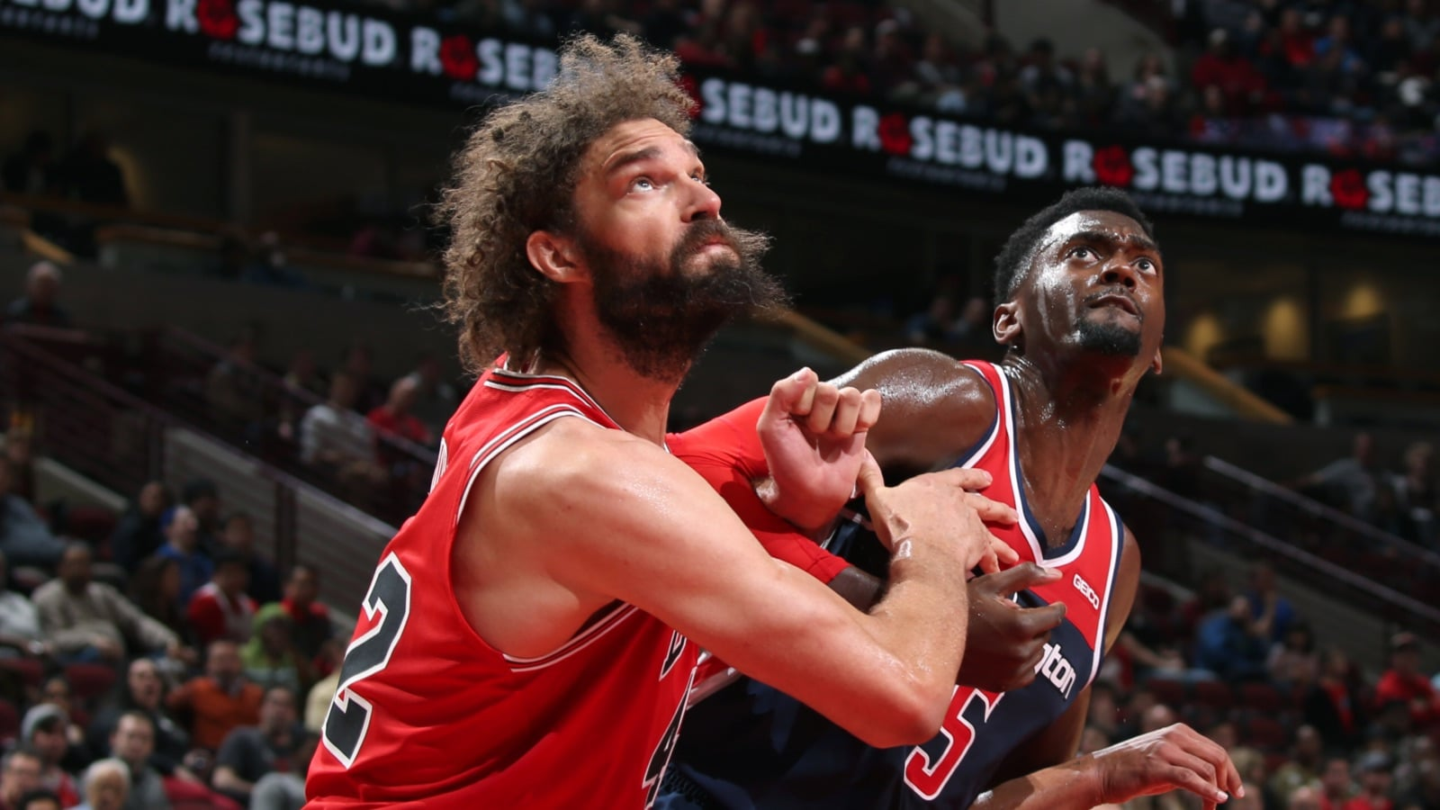 Robin Lopez fights for position against Bobby Portis