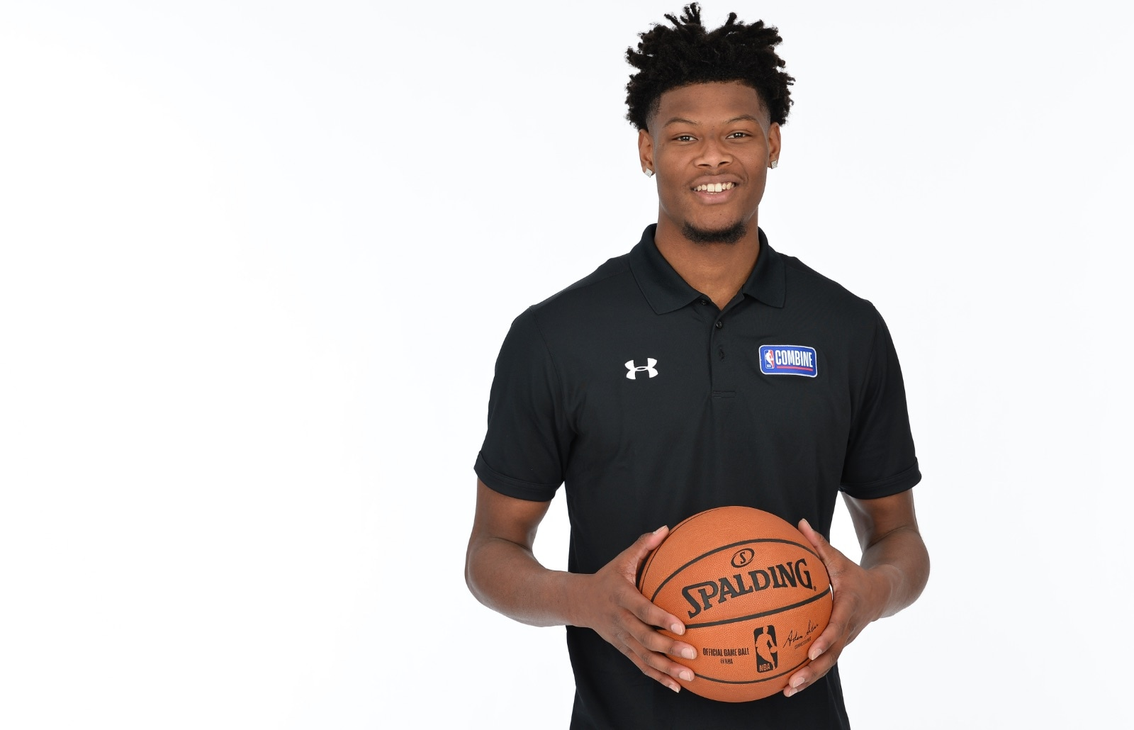 Cam Reddish poses for a portrait at the 2019 NBA Draft Combine on May 14, 2019 at the Chicago Hilton in Chicago, Illinois.