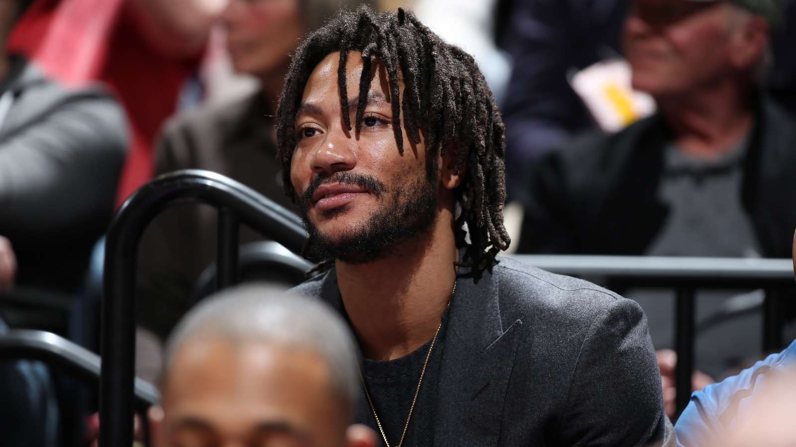 Derrick Rose #25 of the Minnesota Timberwolves smiles against the Golden State Warriors on March 19, 2019 at Target Center in Minneapolis, Minnesota.