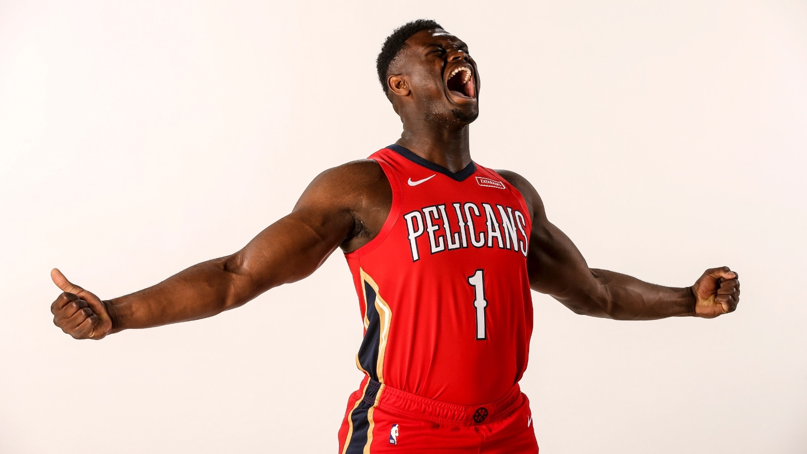 Zion Williamson #1 of the New Orleans Pelicans poses for a portrait on June 21, 2019 at the Ochsner Sports Performance Center in New Orleans, Louisiana.