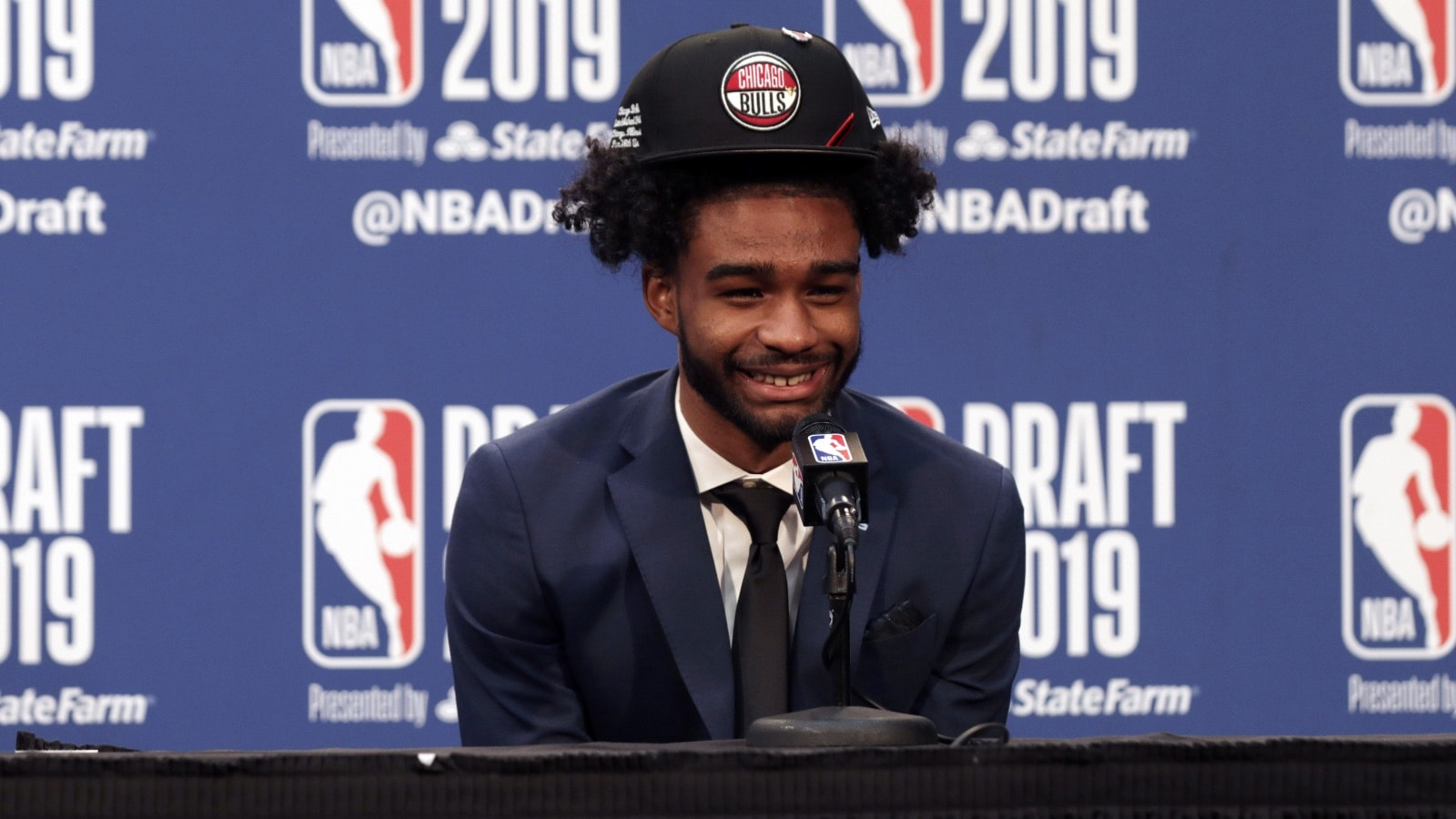 Coby White meets with the media following being drafted