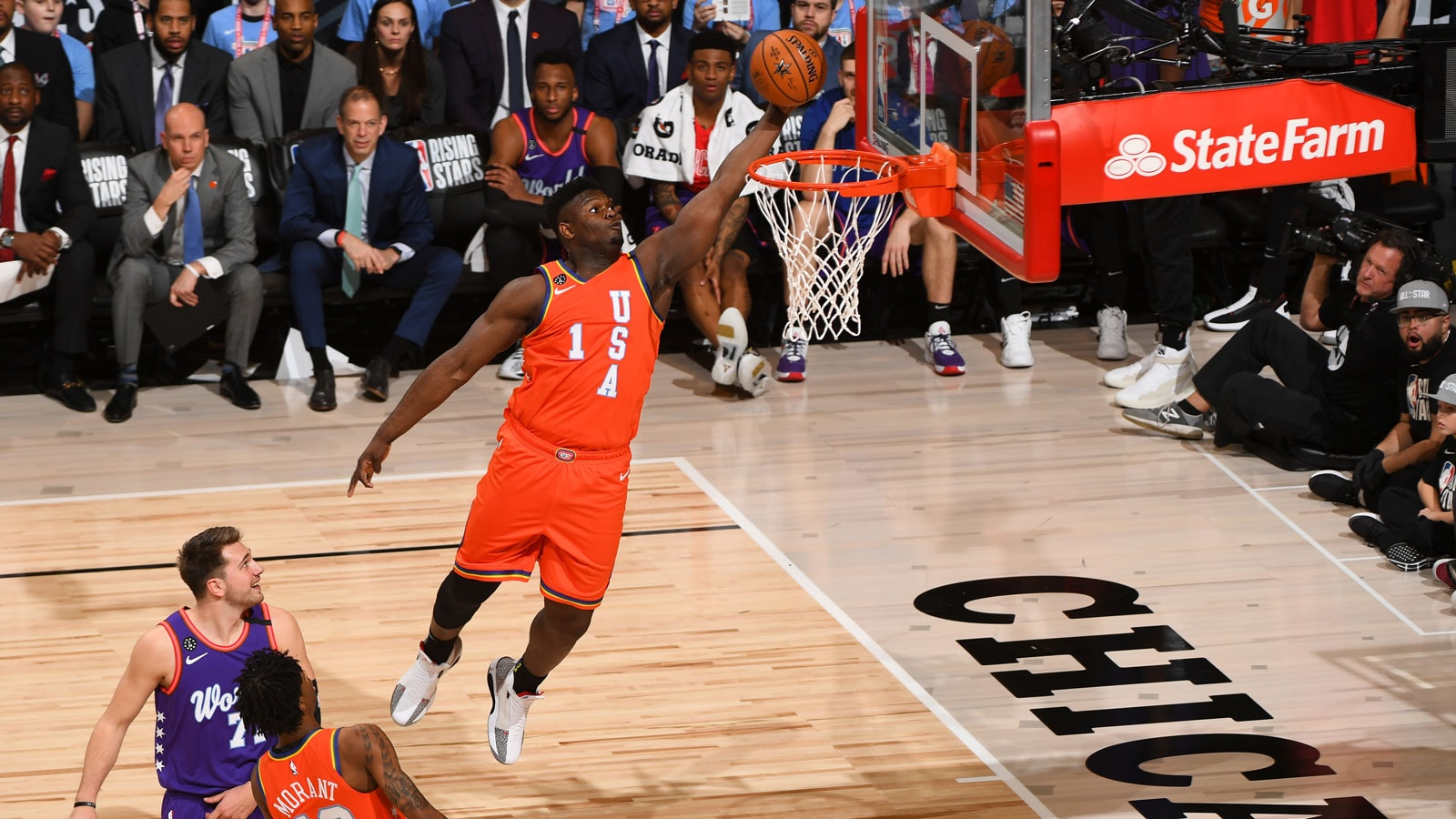 Zion Williamson finished the Rising Stars exhibition with 14 points.