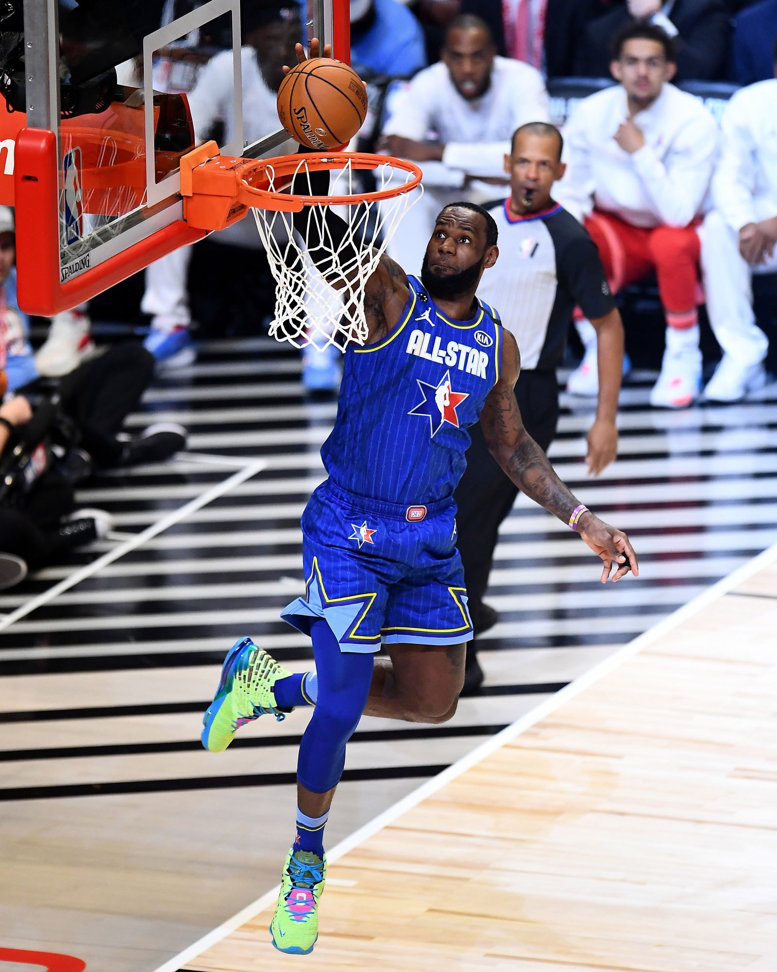 LeBron James finished with 23 points in the 2020 All-Star game.