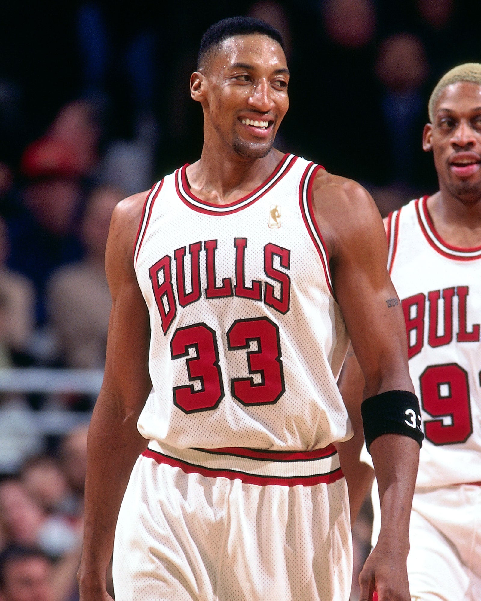 Scottie Pippen played for the Bulls from 1987 to 1998 before returning and playing for Chicago in the '03-'04 season.