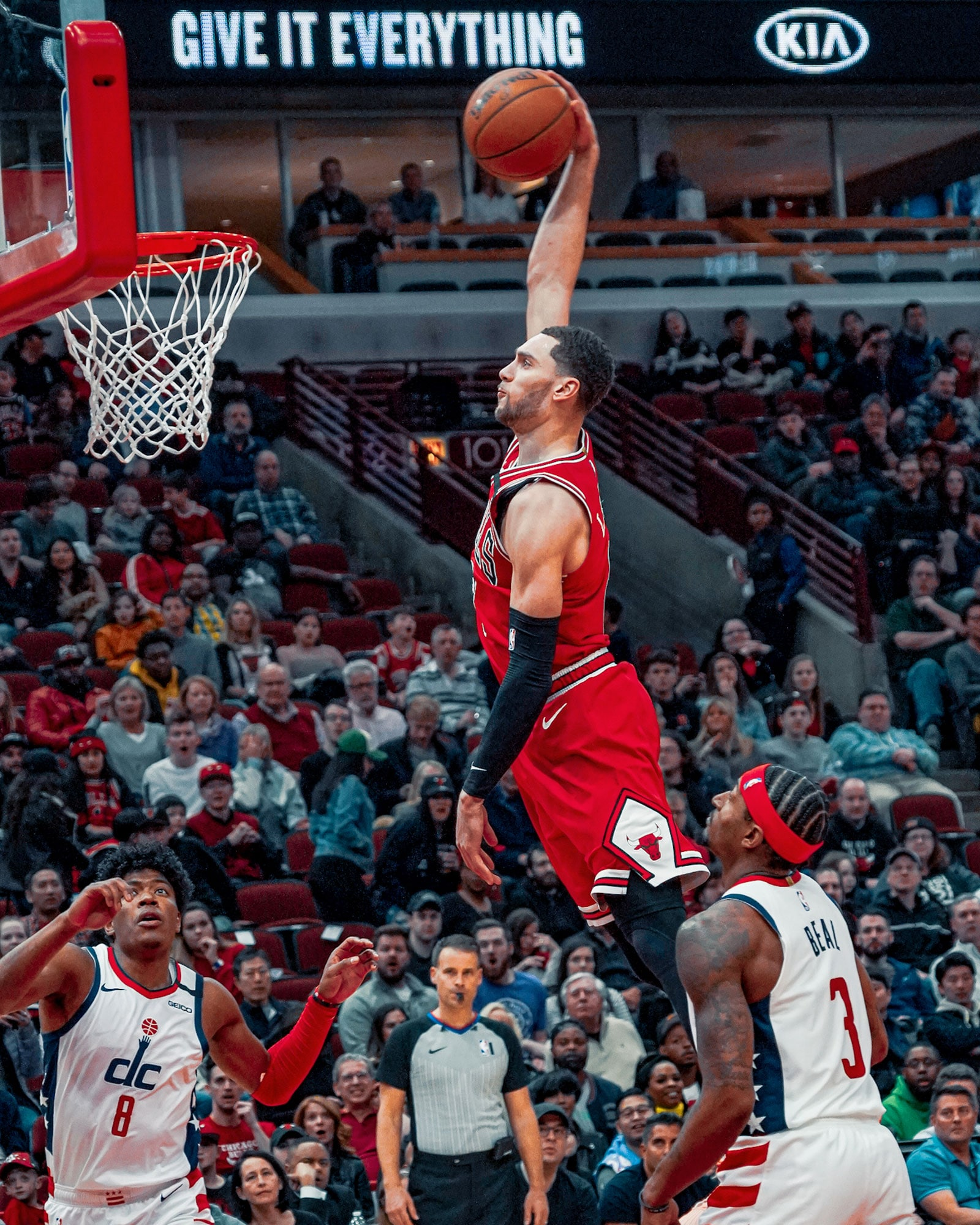 Zach LaVine rises up for a tomahawk jam in the fourth quarter.