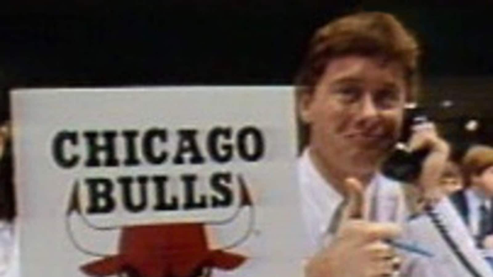 Keith Brown made a brief appearance on television as he called in the Bulls' selection of Michael Jordan.