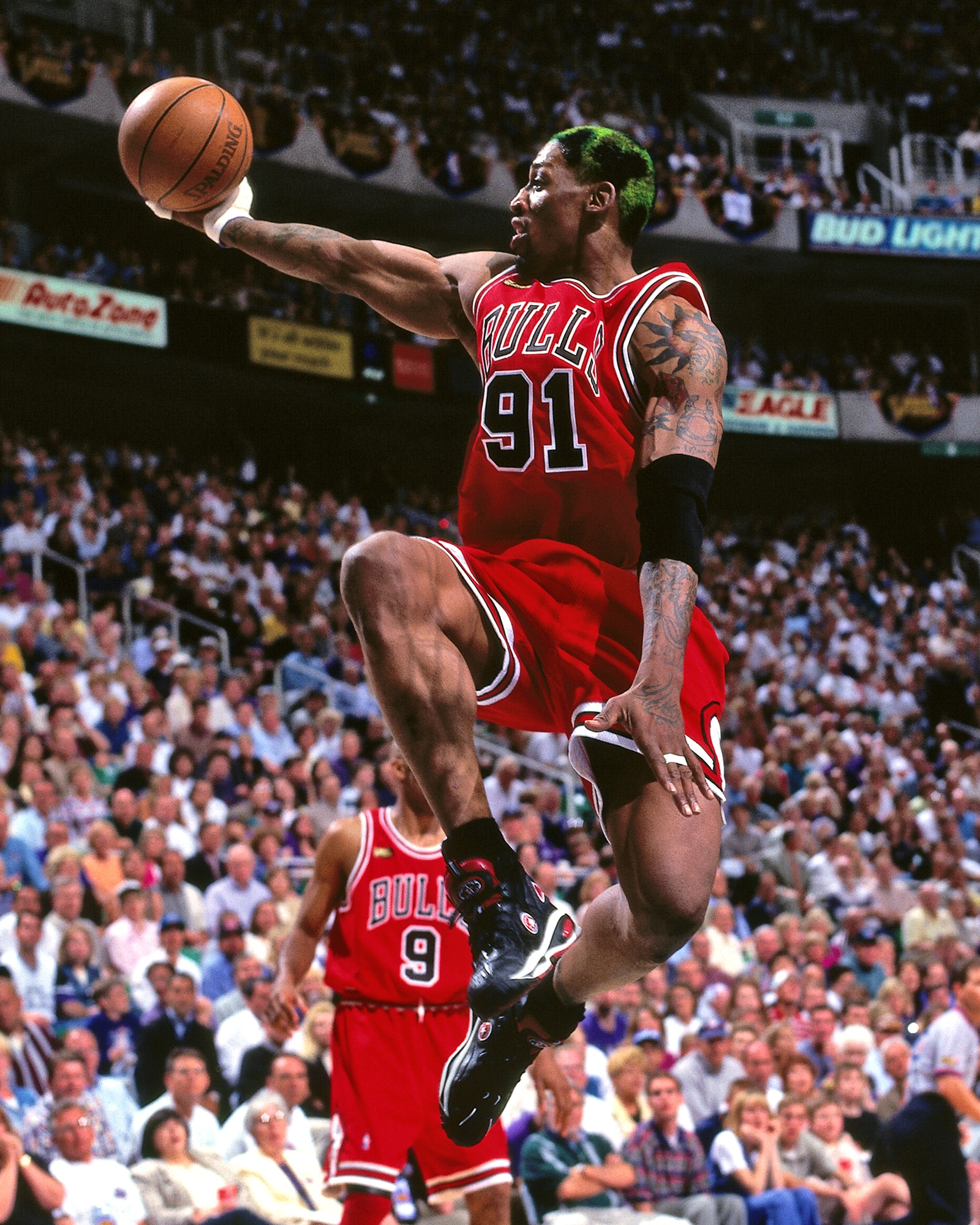 Rodman was one of the best rebounders of all time.