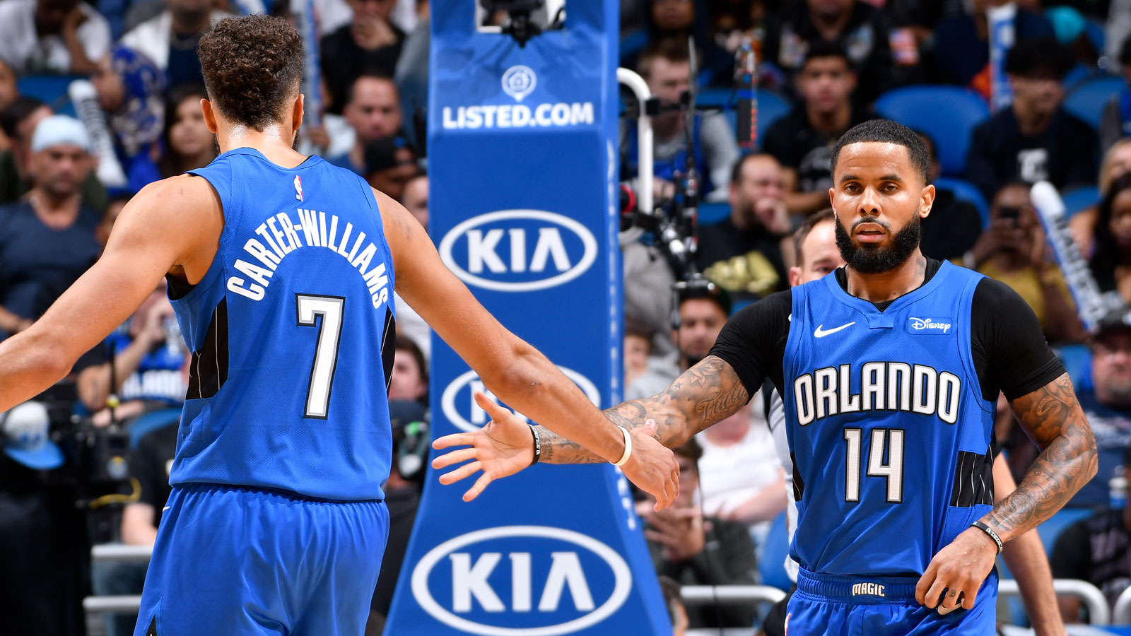 D.J. Augustin and Michael Carter-Williams
