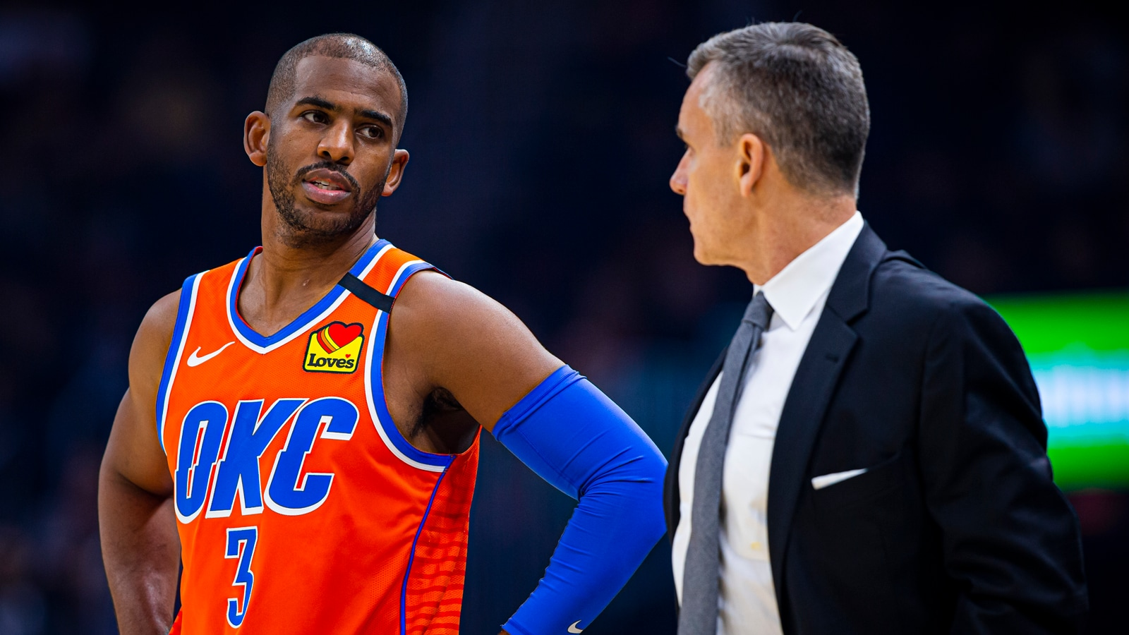 Chris Paul and Billy Donovan