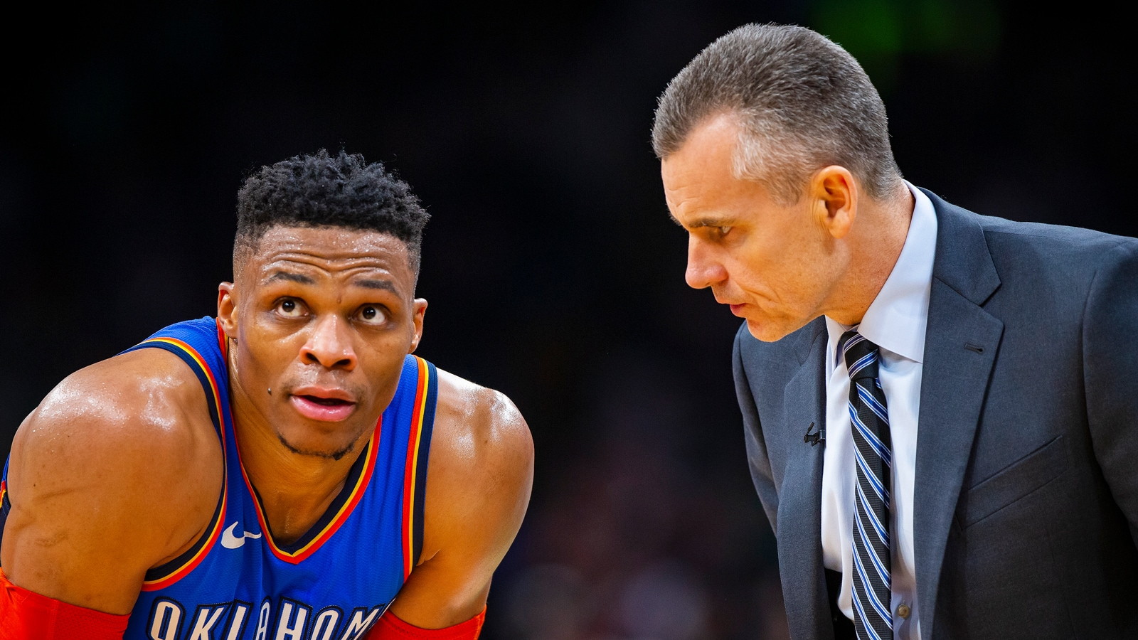 Russell Westbrook and Billy Donovan