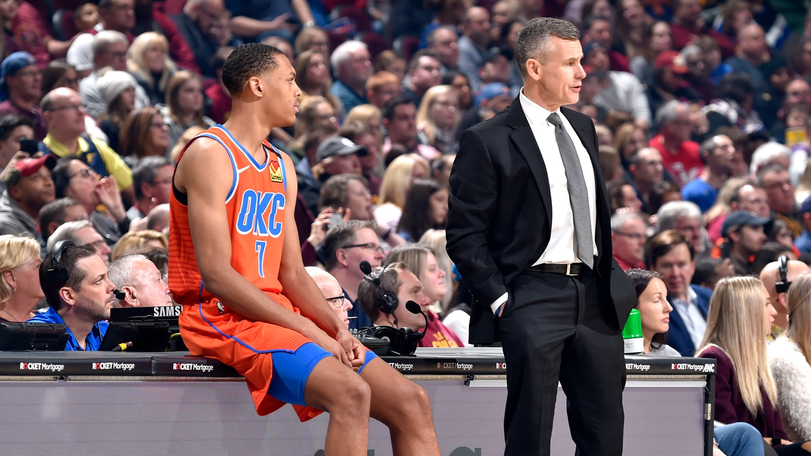 Billy Donovan during a game
