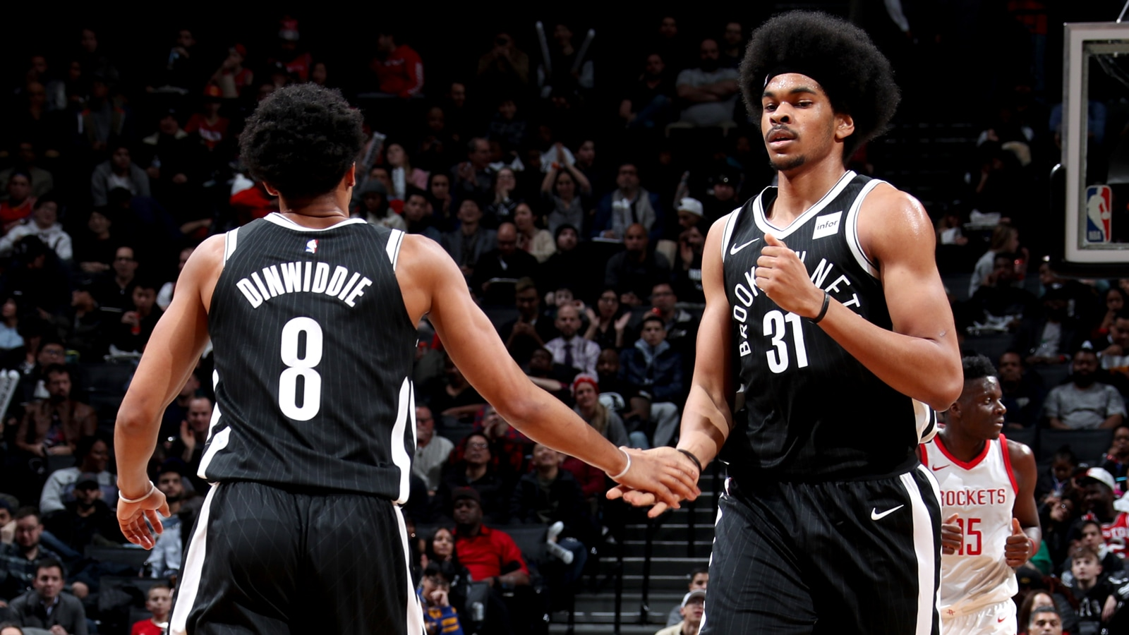 Spencer Dinwiddie and Jarrett Allen