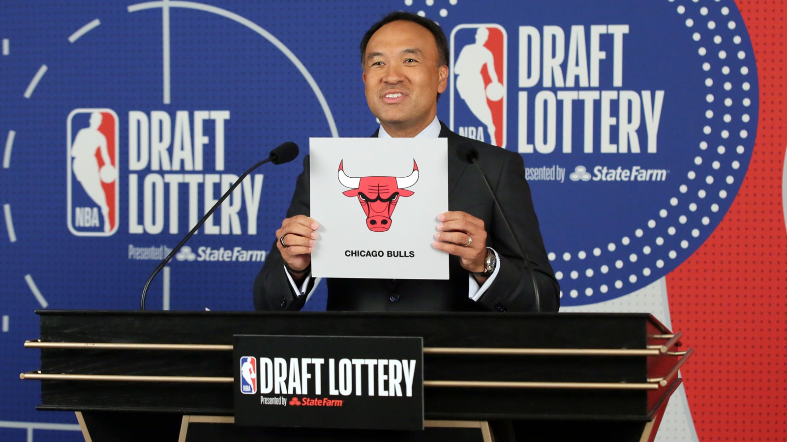 Mark Tatum at the NBA Draft Lottery