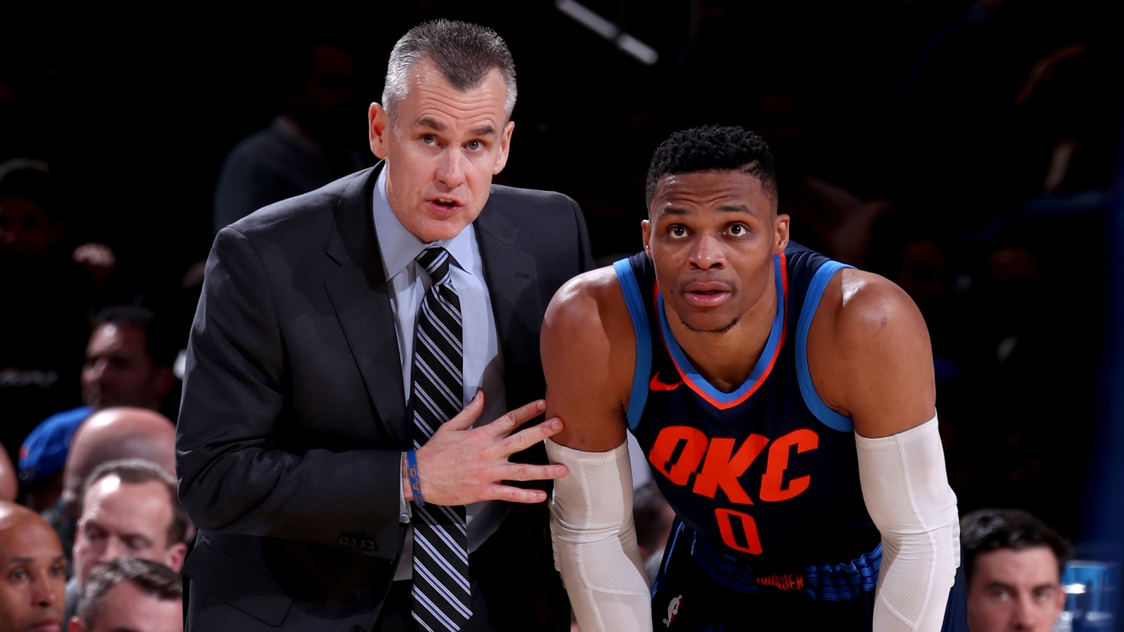 Billy Donovan and Russell Westbrook