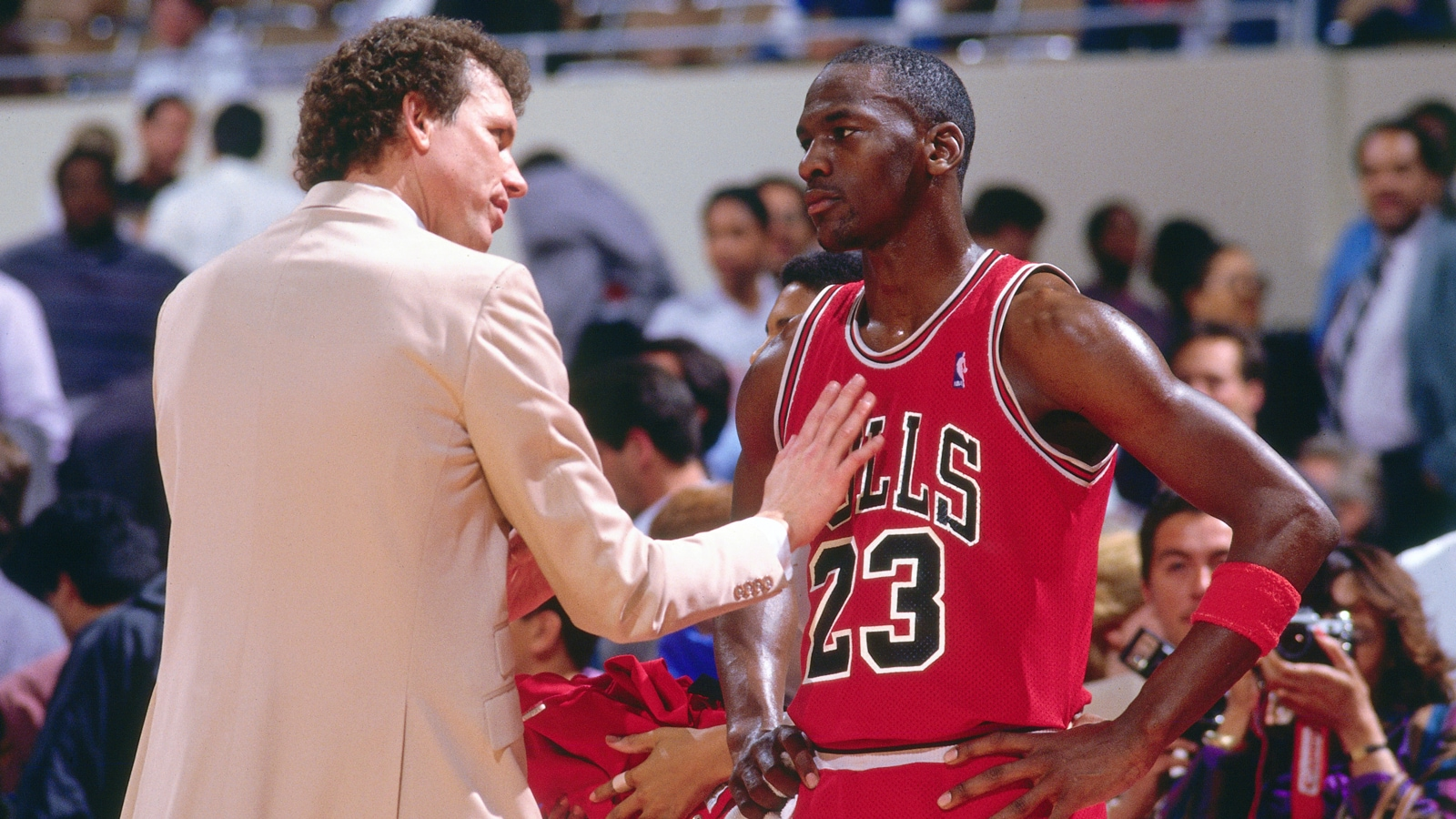 Doug Collins and Michael Jordan