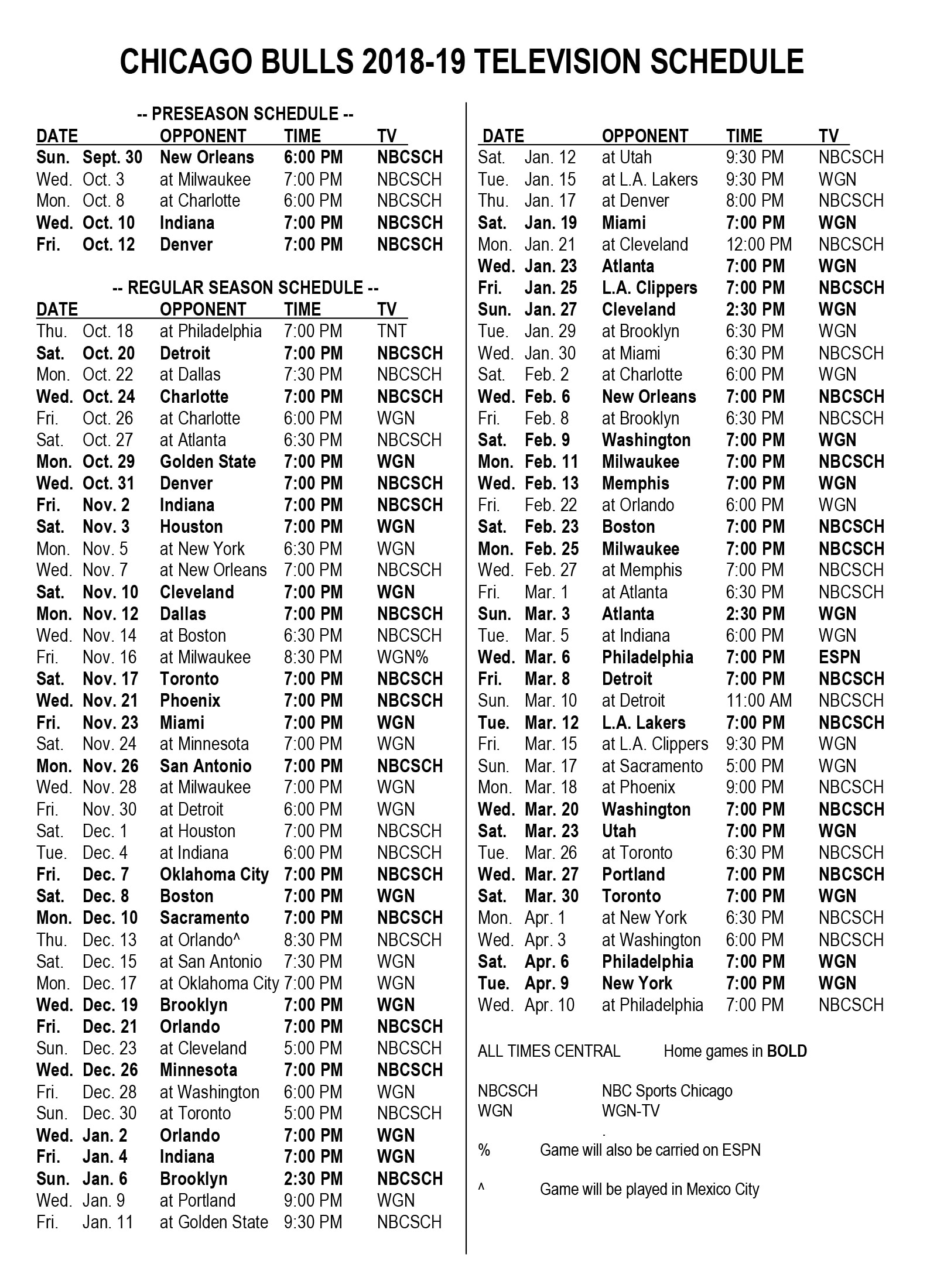 Intrepid image for chicago bulls schedule printable