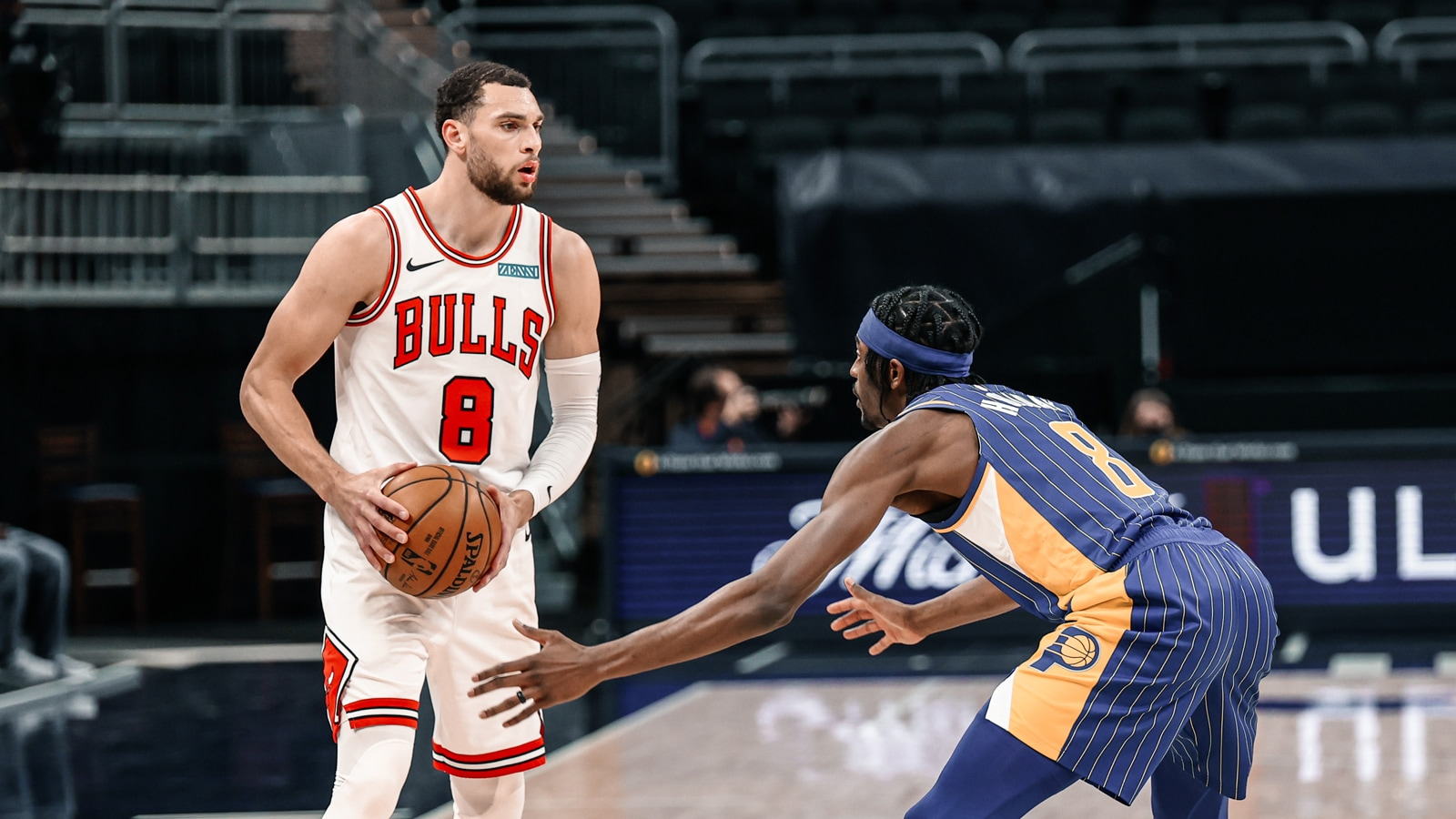Zach LaVine against the Pacers