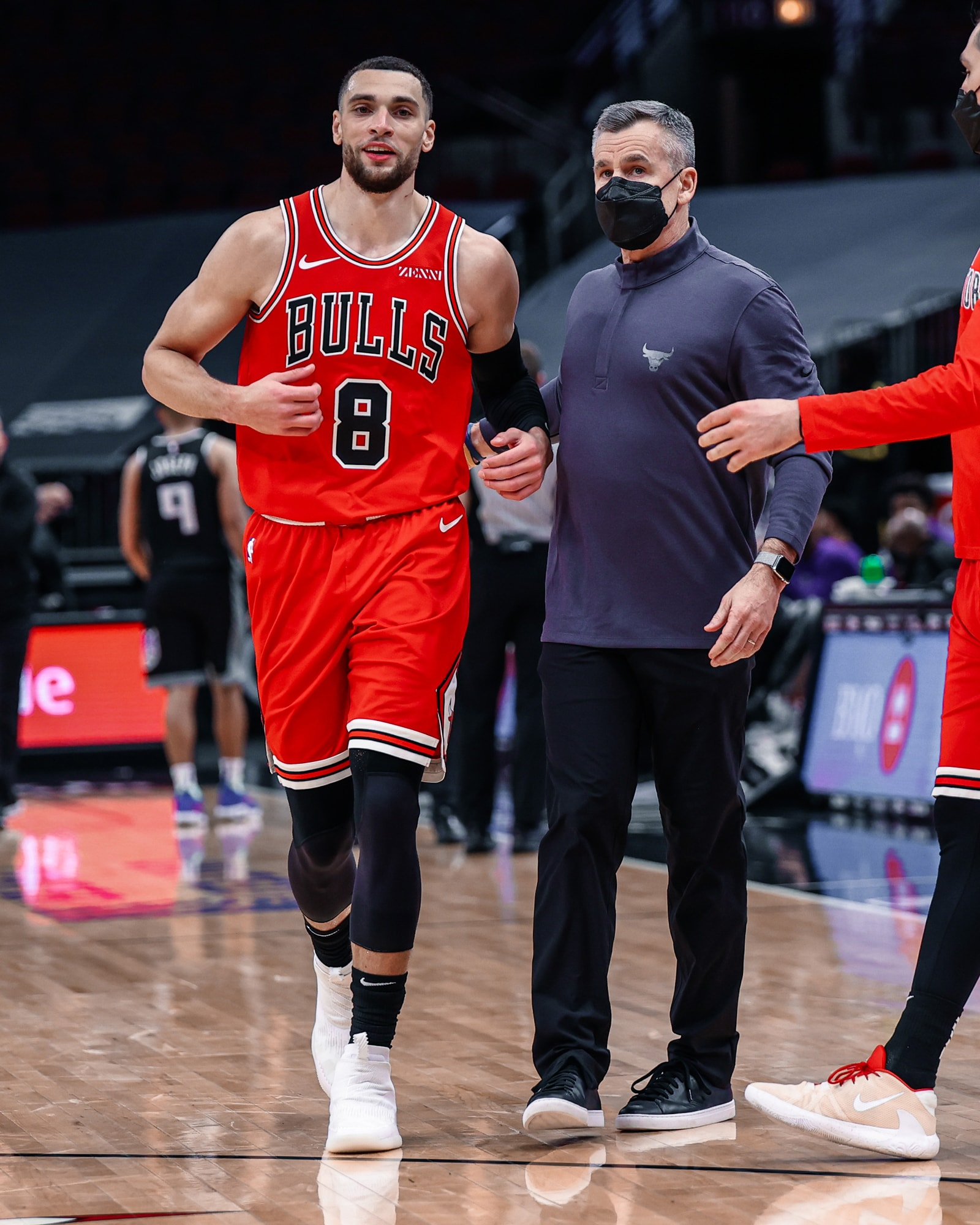 Zach LaVine smiles after hitting a clutch shot in a victory over the Sacramento Kings