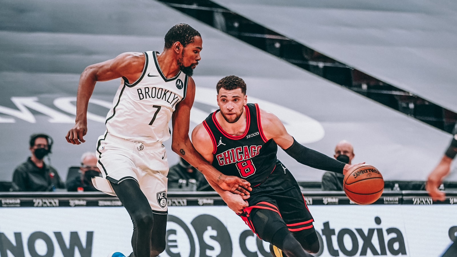 Kevin Durant and Zach LaVine