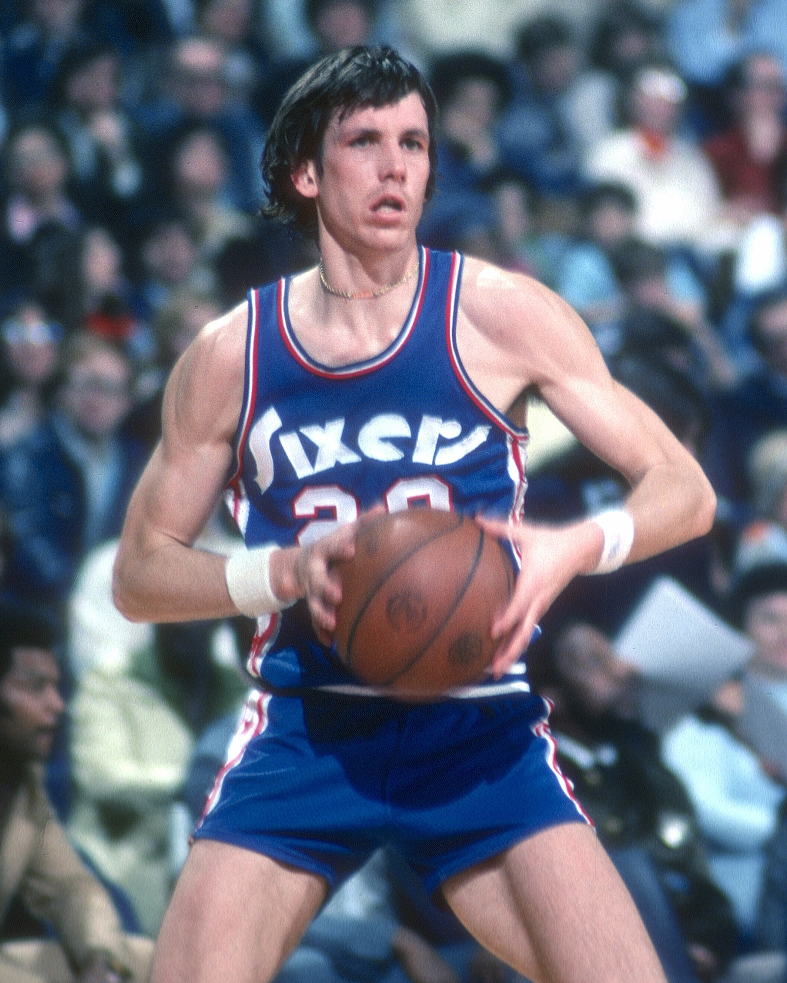 Doug Collins played his entire NBA career with the Philadelphia 76ers.