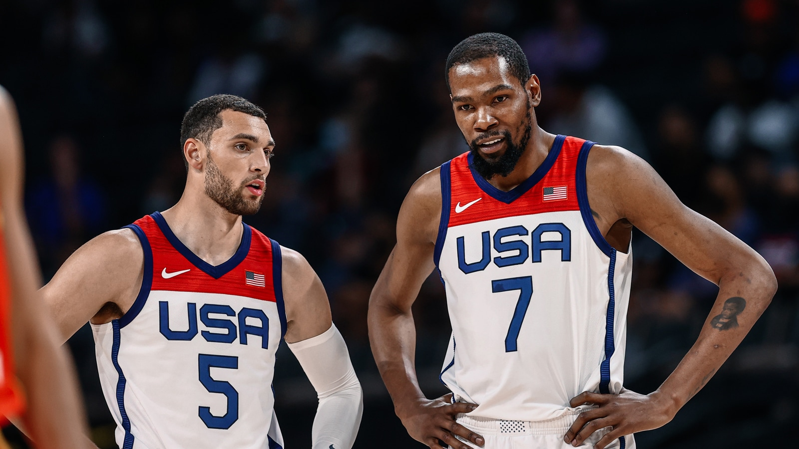 Zach LaVine and Kevin Durant