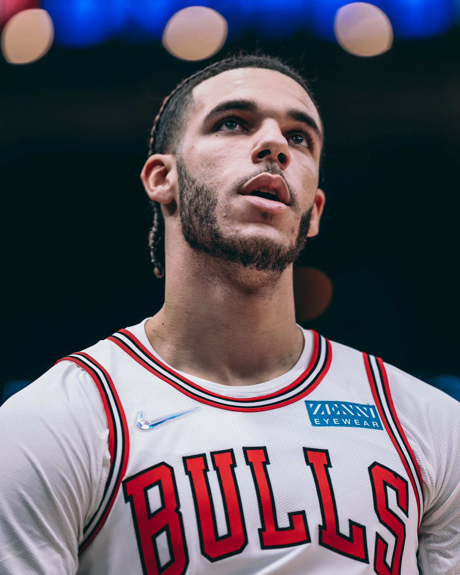 Lonzo Ball during Chicago's preseason opener against the Cavaliers on Tuesday night.