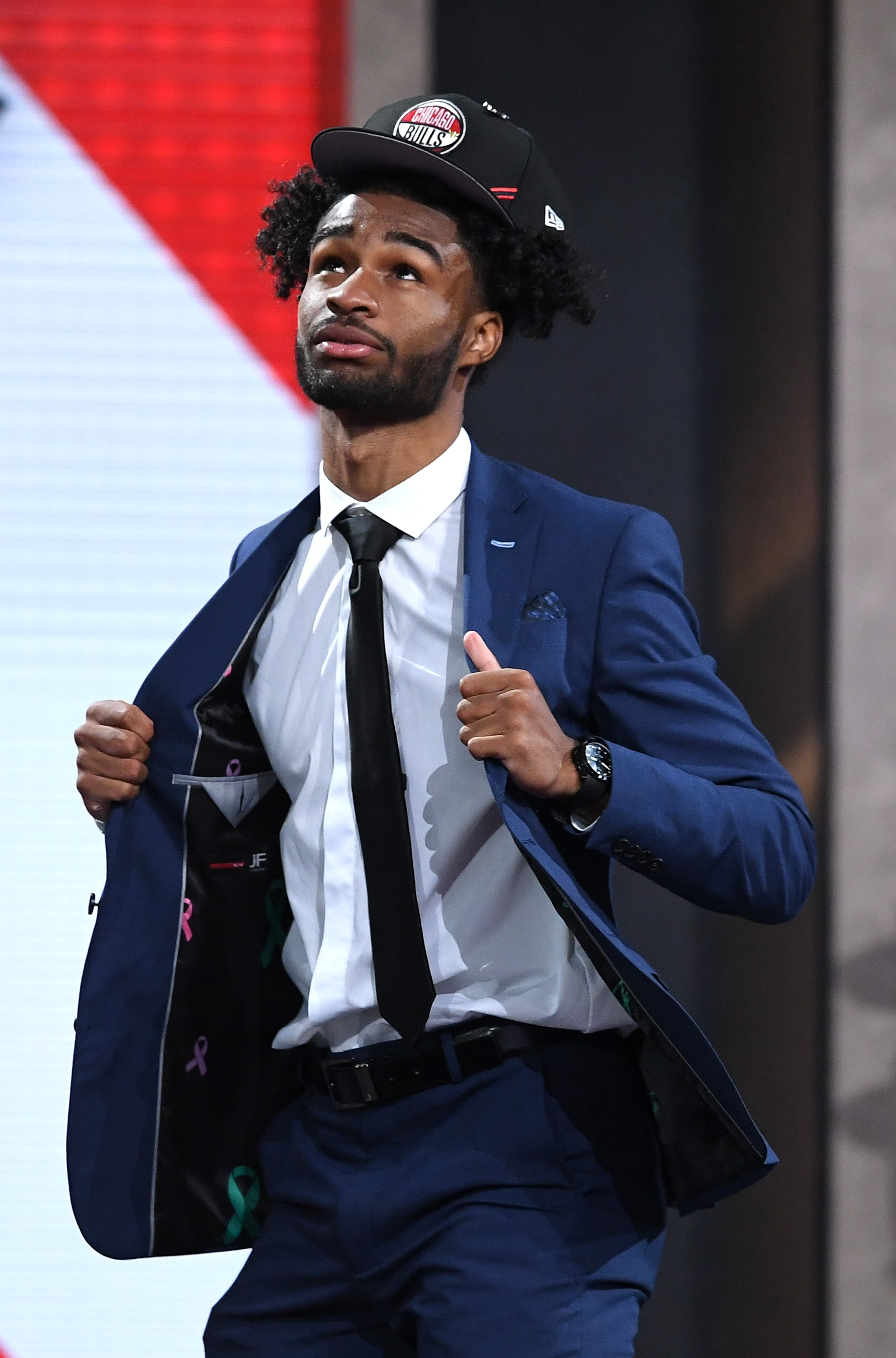 Coby White at the NBA Draft