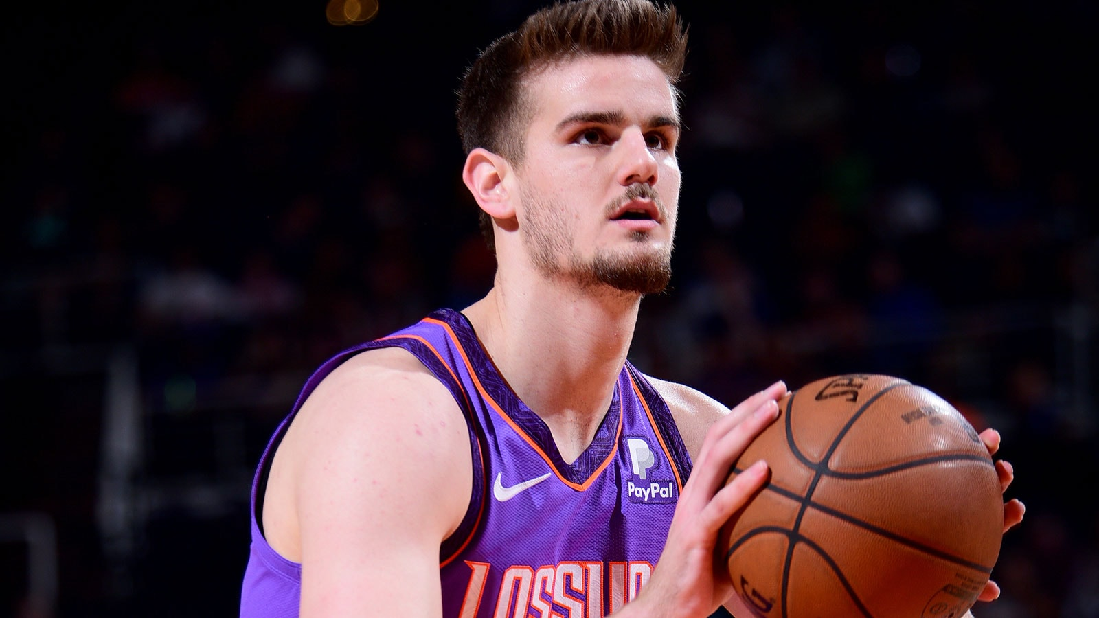 Dragan Bender #35 of the Phoenix Suns shoots a free throw during the game against the Chicago Bulls on March 18, 2019 at Talking Stick Resort Arena in Phoenix, Arizona.