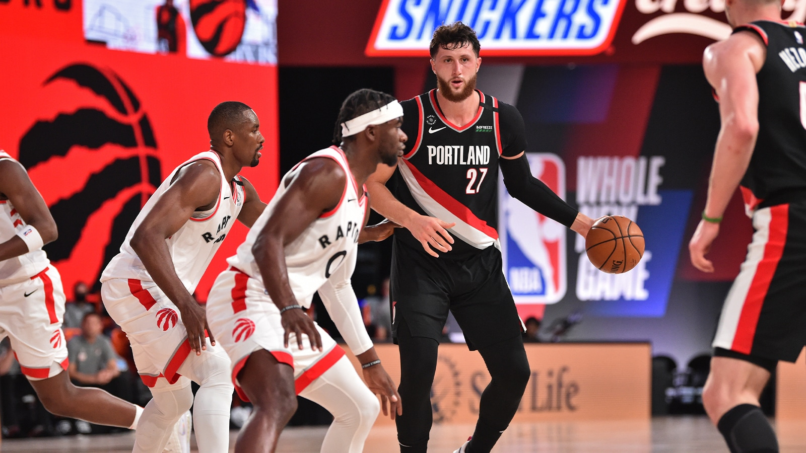Portland's Jusuf Nurkic in action