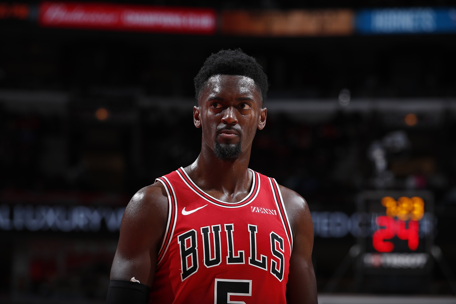Bobby Portis pictured during the game against the Hornets