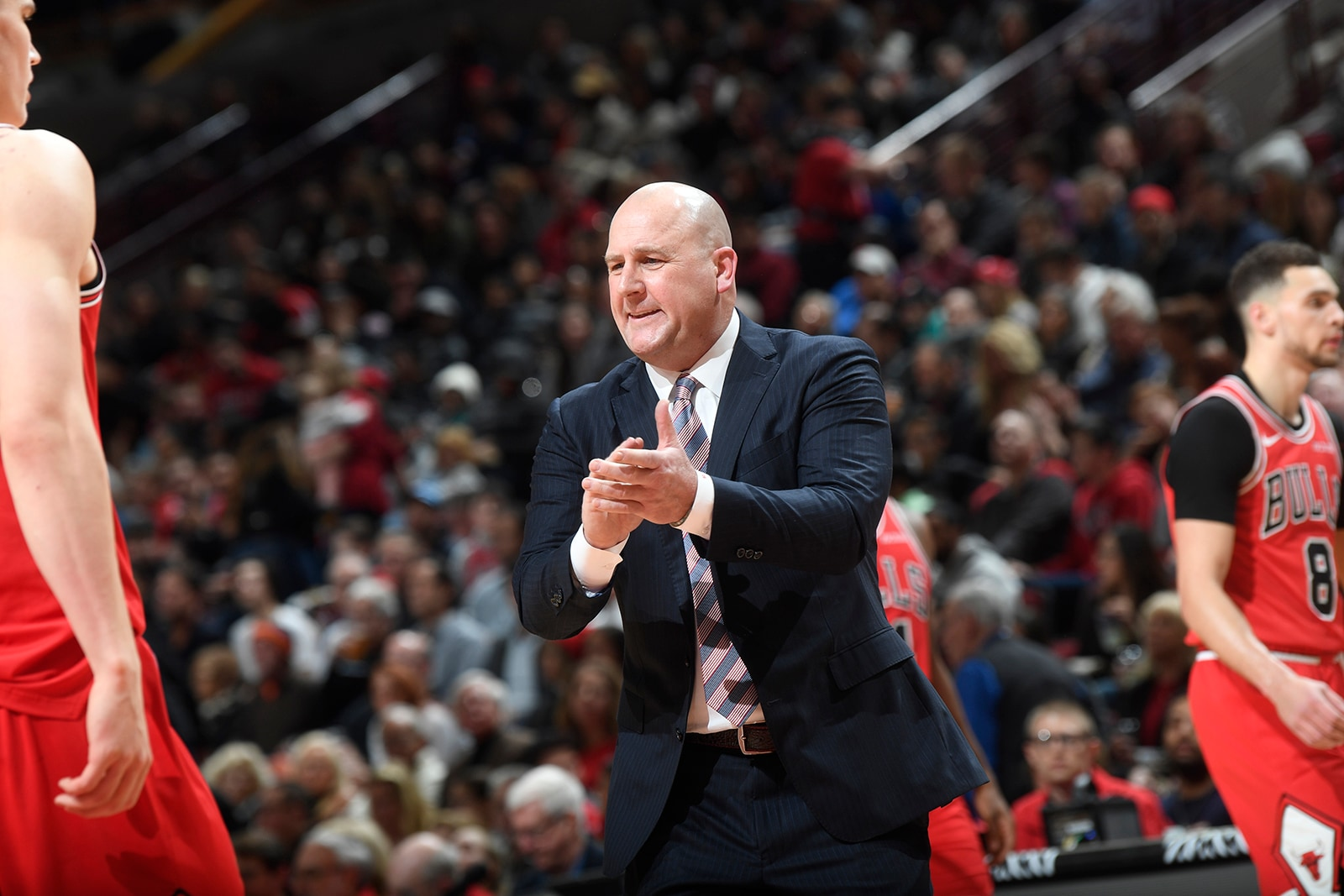 Jim Boylen Cheering his team on from the sideline