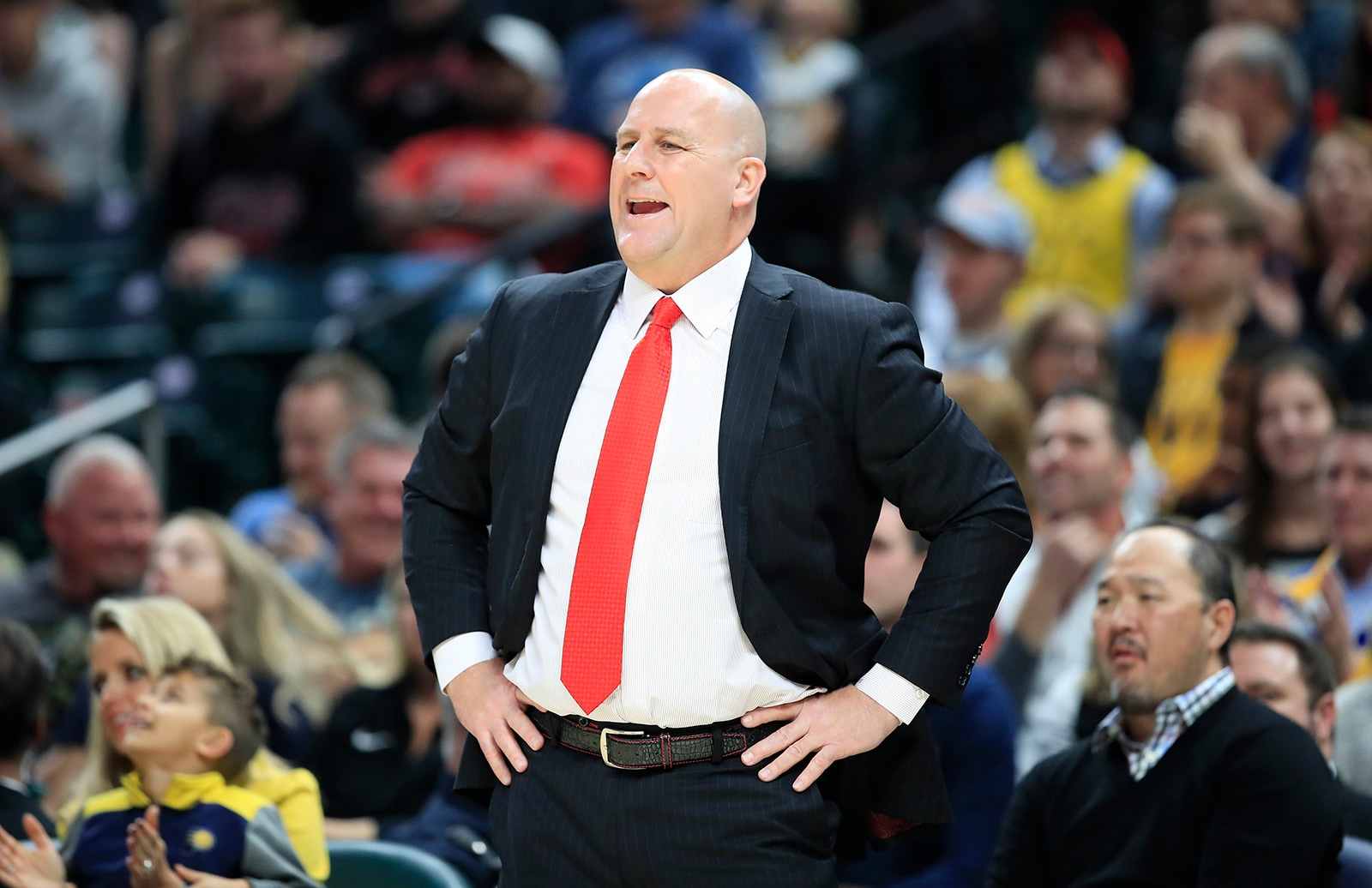 Coach Boylen during the Pacers Game
