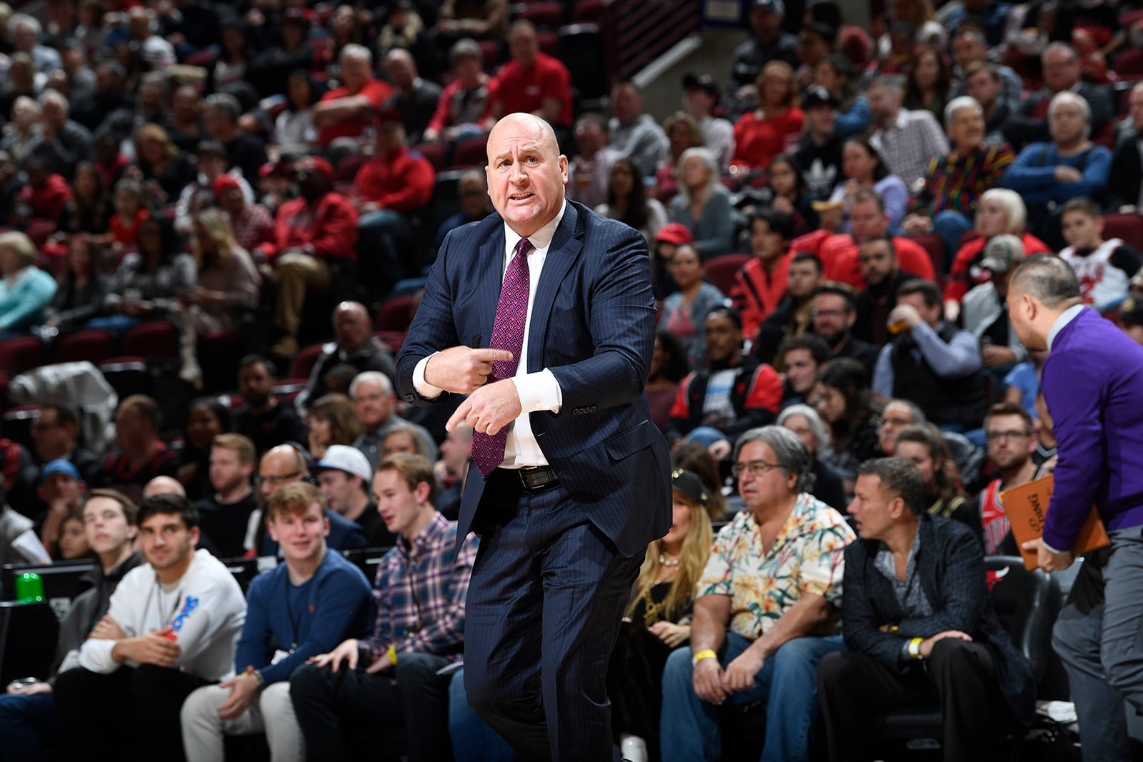 Boylen coaching from the sidelines