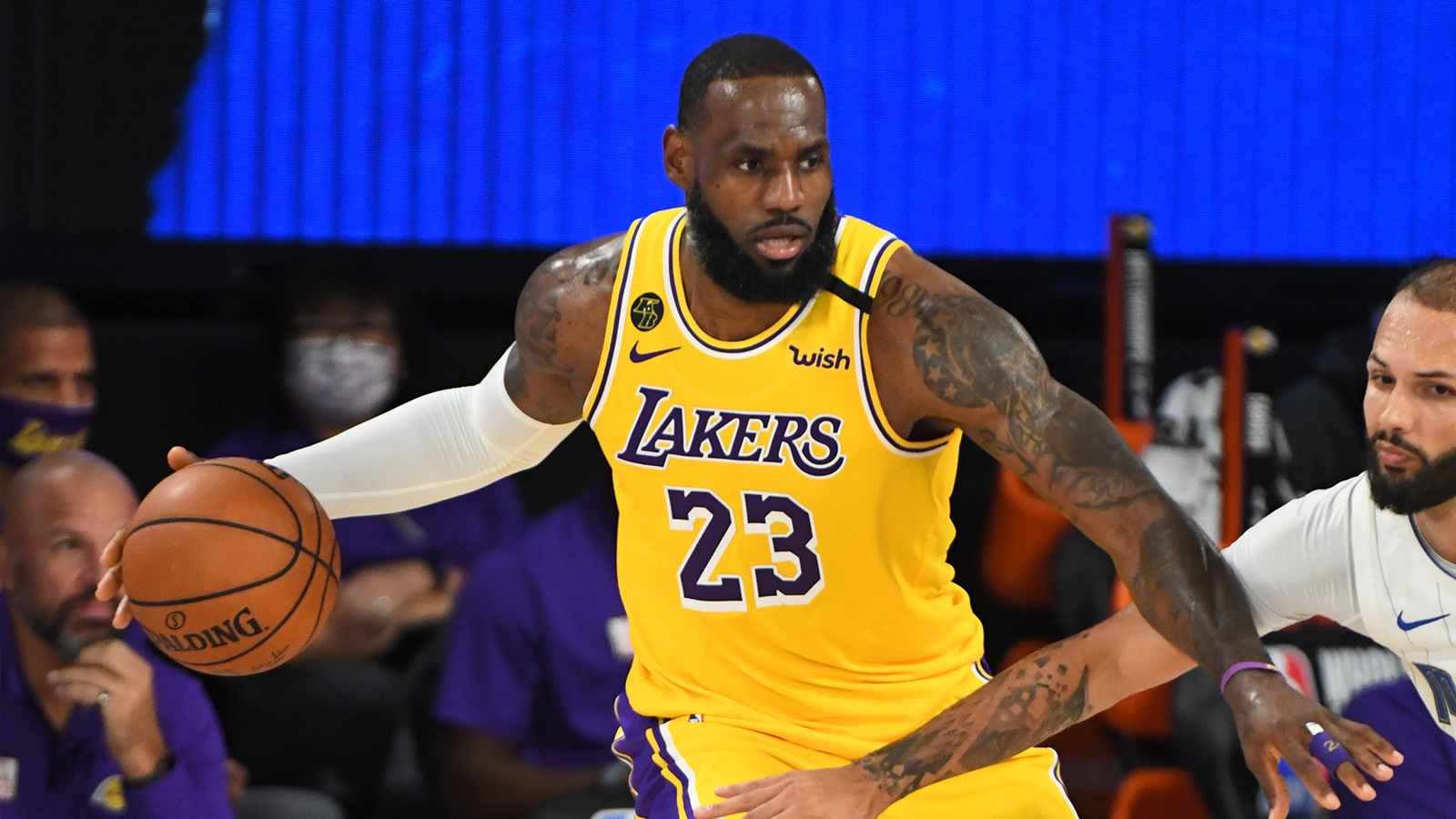 LeBron James in action for the Lakers in Orlando