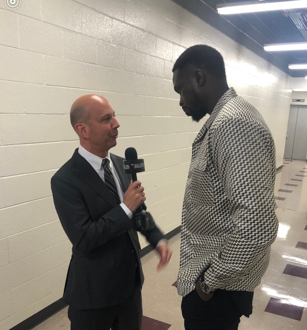 Chuck with Luol Deng