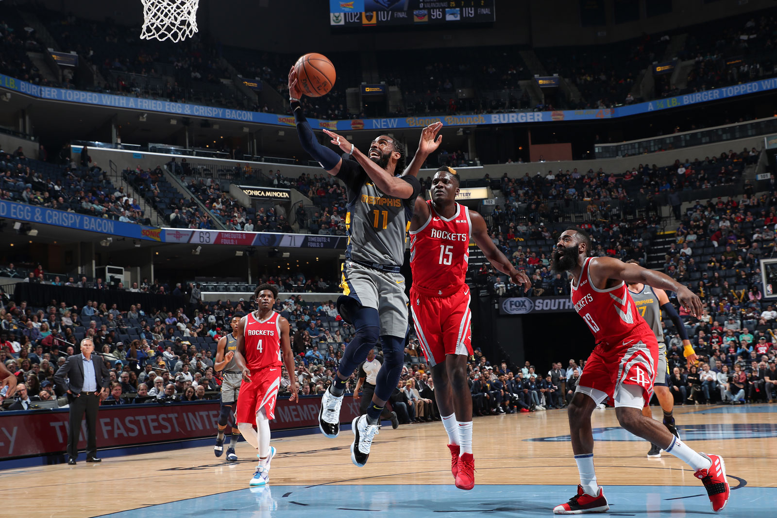 Mike Conley #11 of the Memphis Grizzlies shoots the ball against the Houston Rockets on March 20, 2019 at FedExForum in Memphis, Tennessee.
