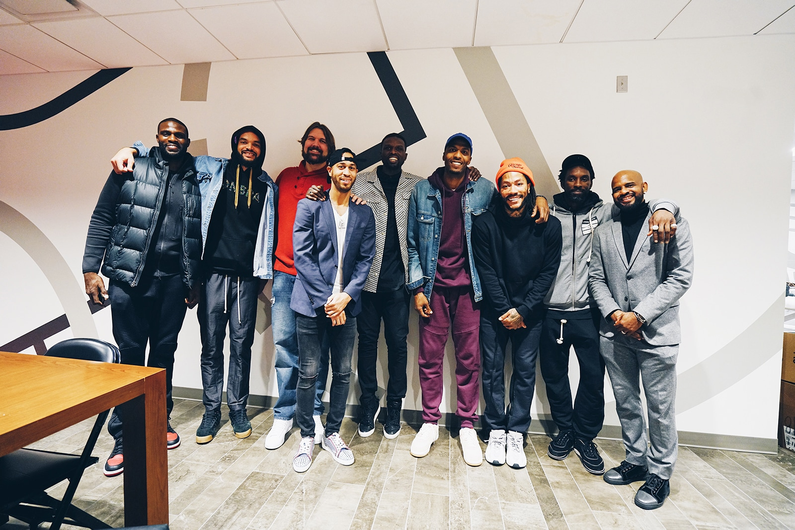 Deng with some former teammates