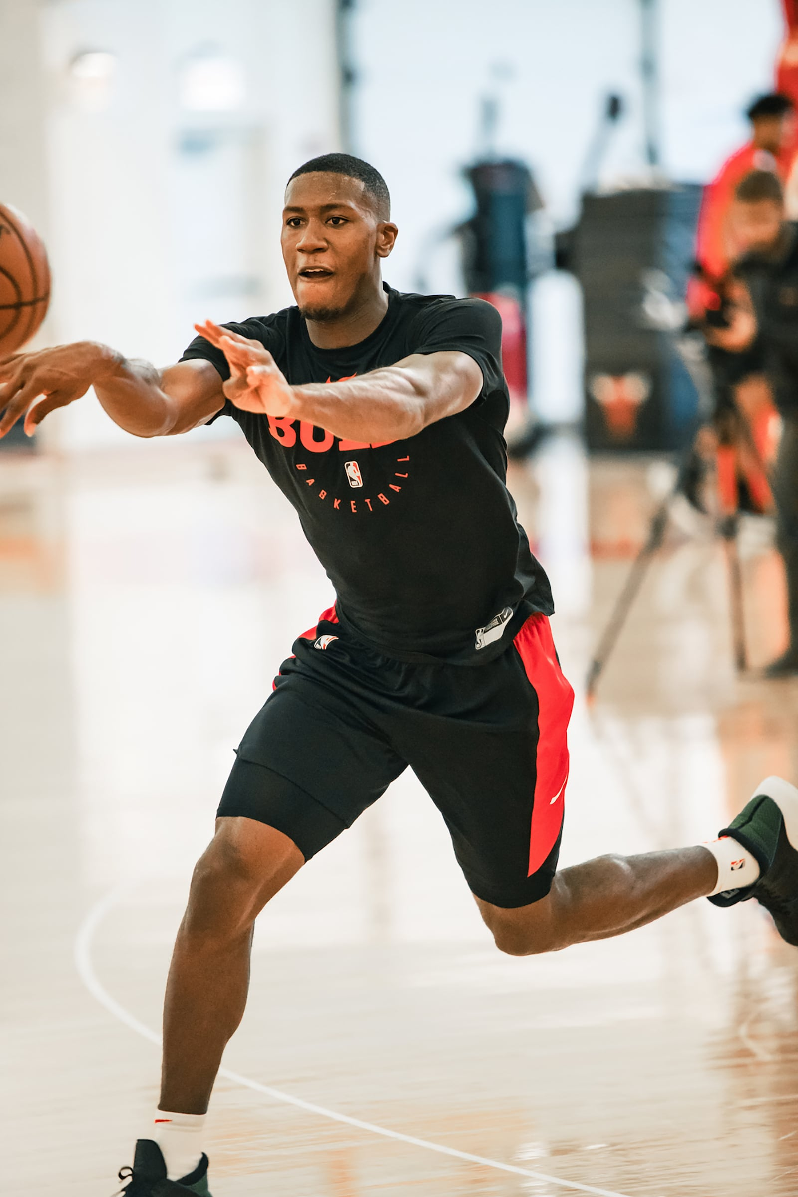 Dunn working out at the Advocate Center this summer