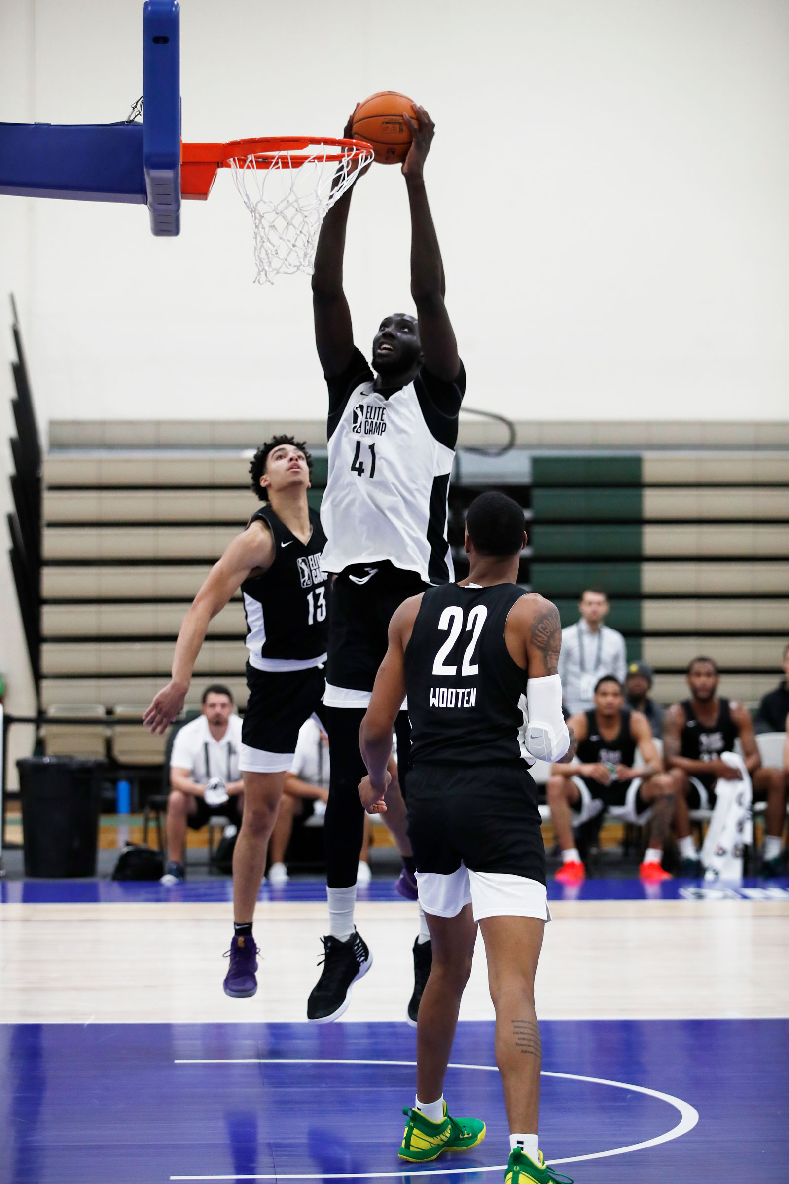 Tacko Fall #41 dunks the ball during Day Two of the G League Elite Camp at the Quest Multisport sports training facility on May 13, 2019 in Chicago, Illinois.