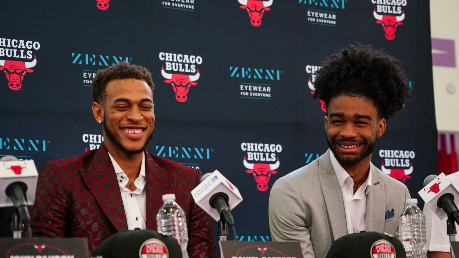 Gafford and White are all smiles at their introductory Press Conference