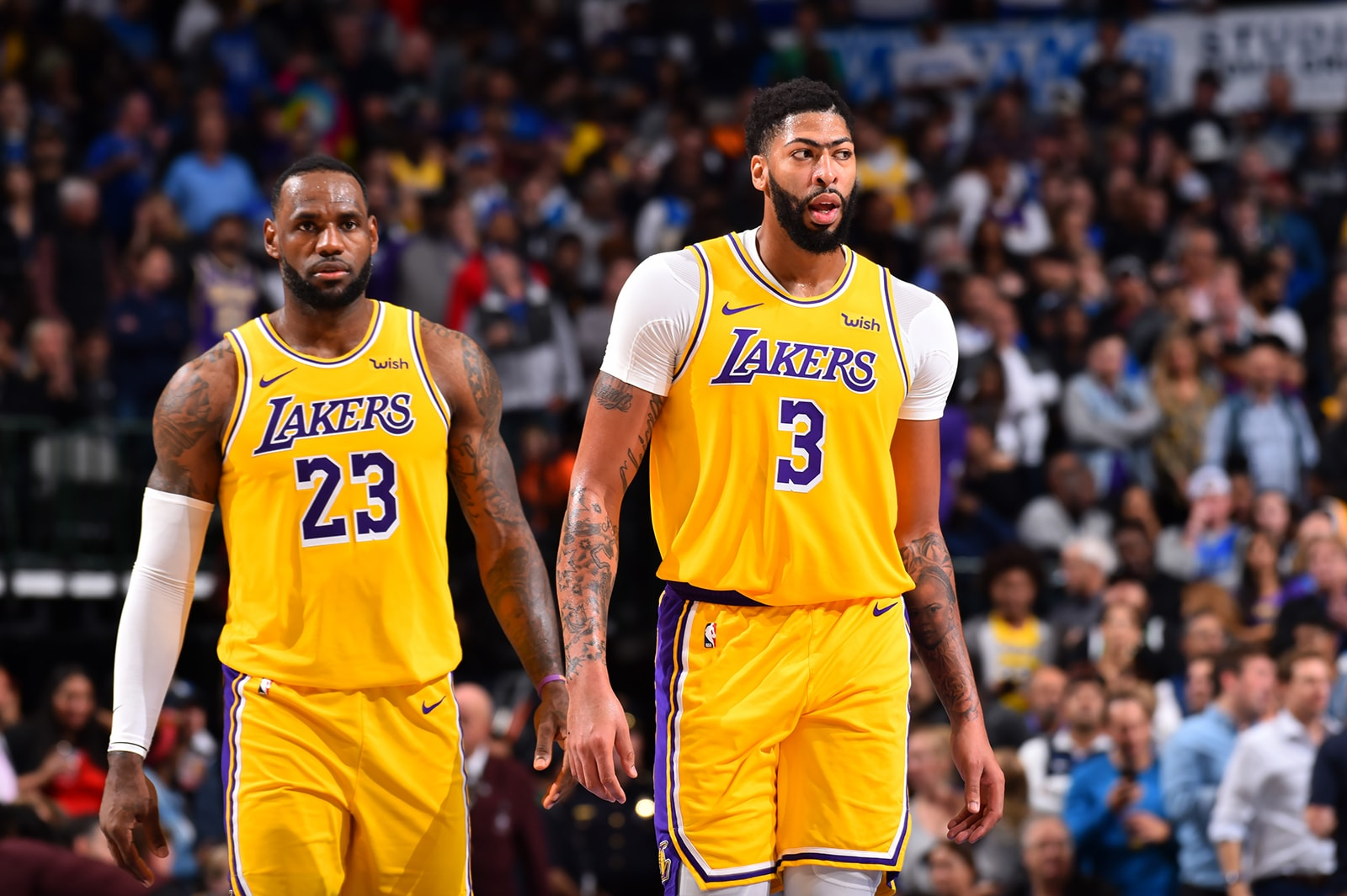 LeBron and AD playing for the Lakers