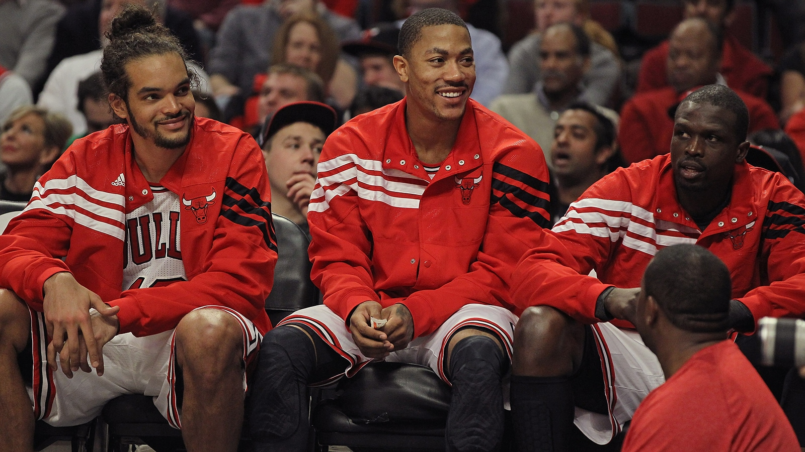 Derrick Rose, Joakim Noah, and Luol Deng
